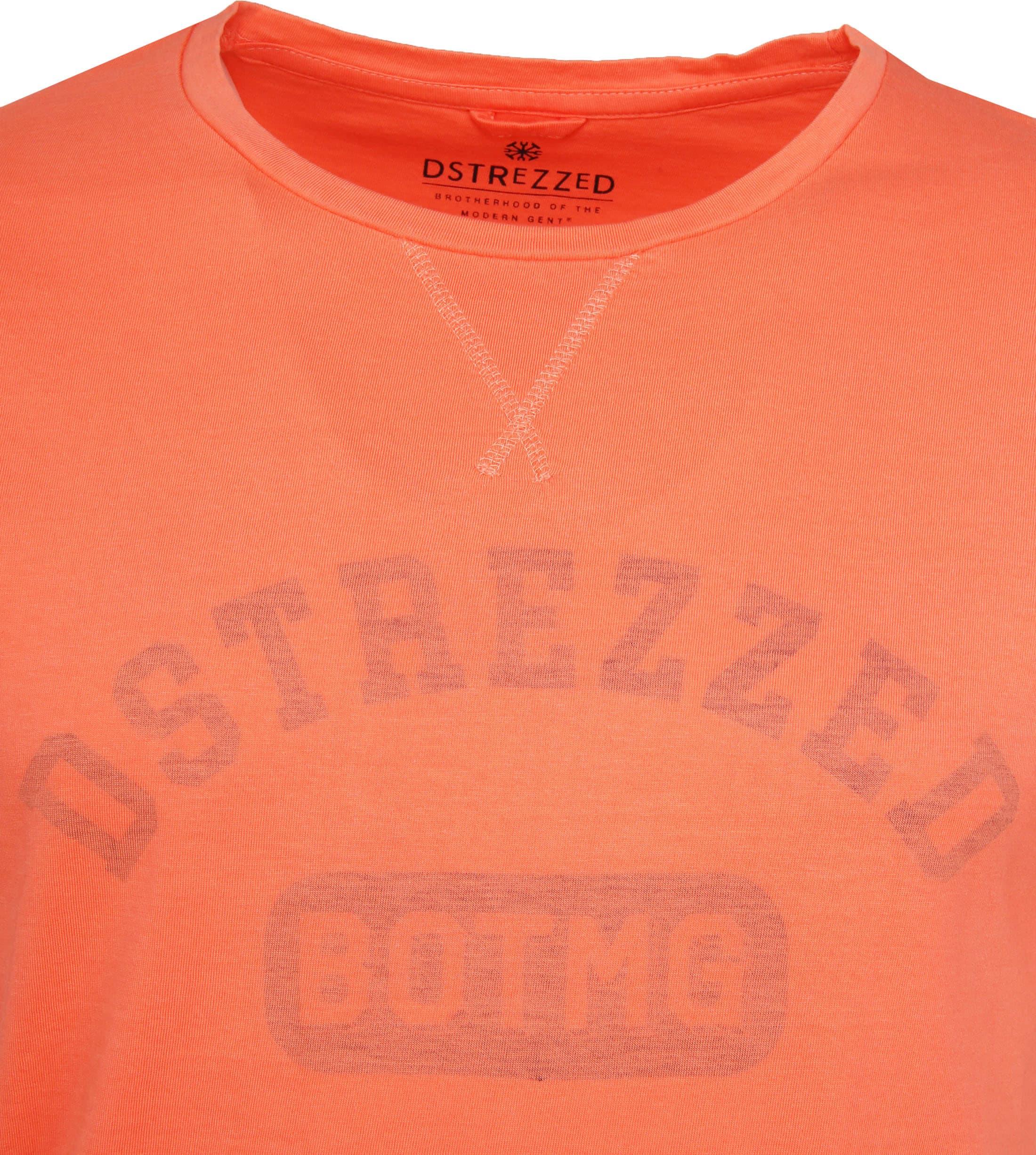 Dstrezzed T-shirt Logo Oranje foto 1