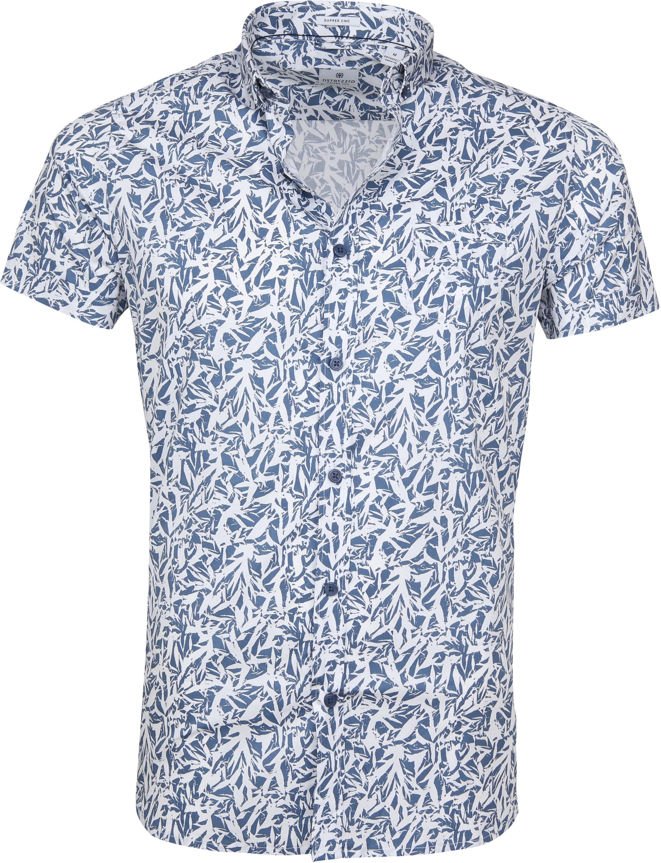 Dstrezzed Wild Leave Overhemd SS Blauw foto 0