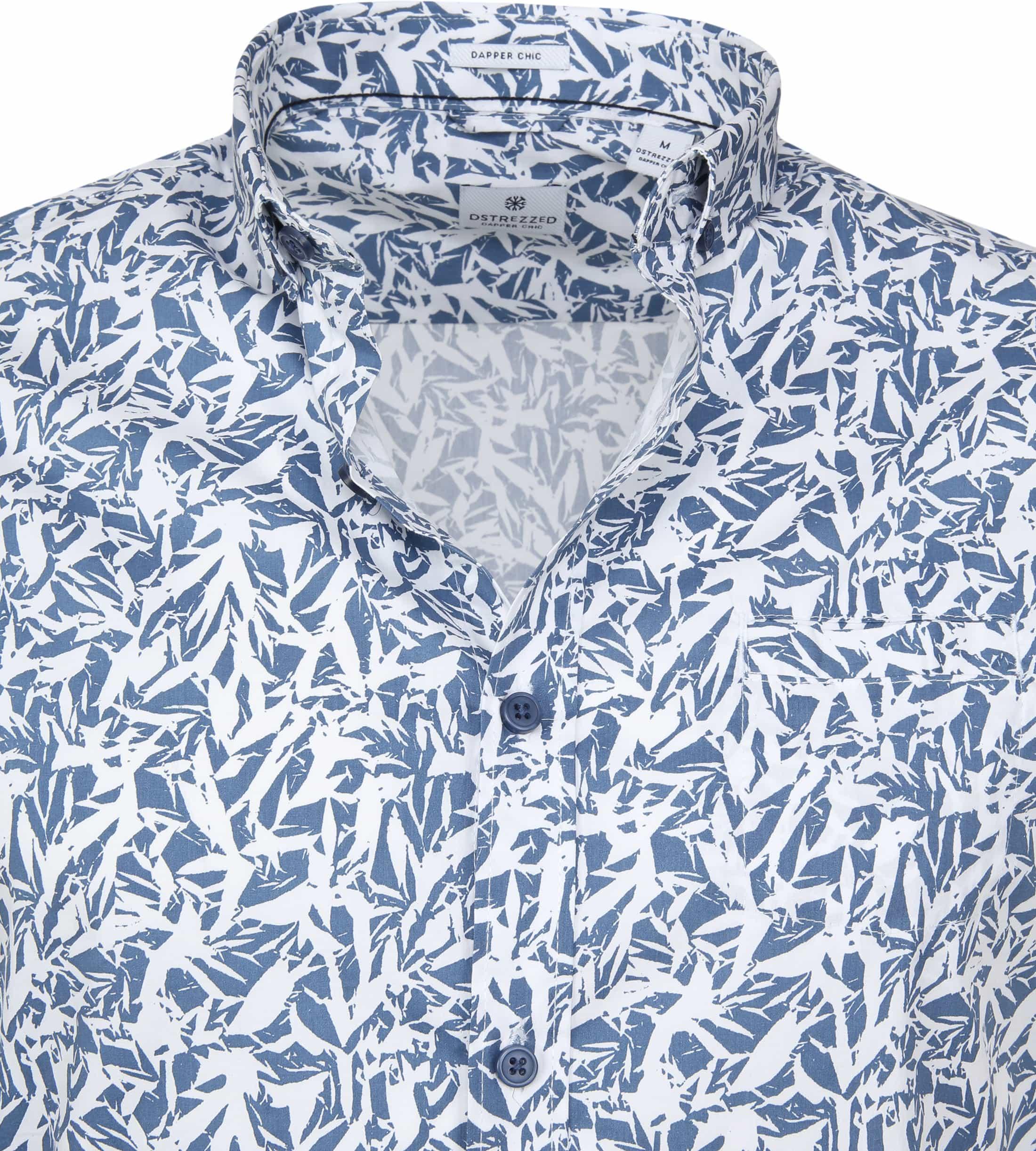 Dstrezzed Wild Leave Overhemd SS Blauw foto 1