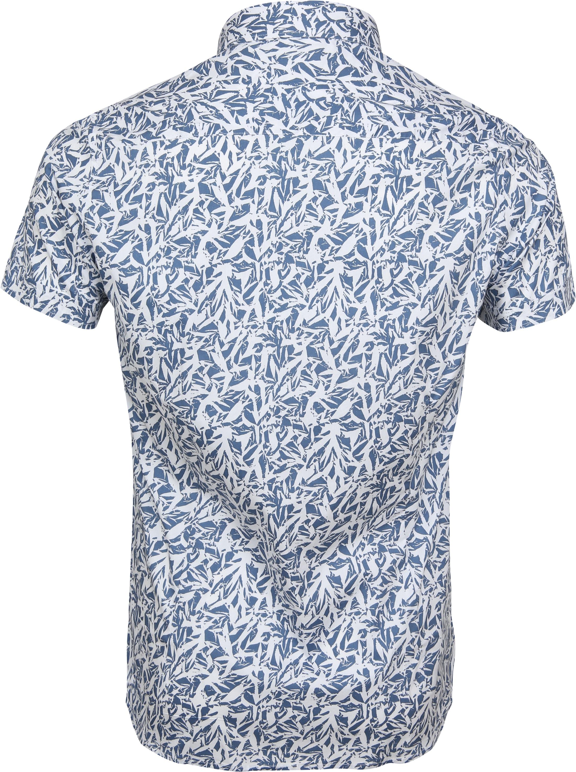 Dstrezzed Wild Leave Overhemd SS Blauw foto 3