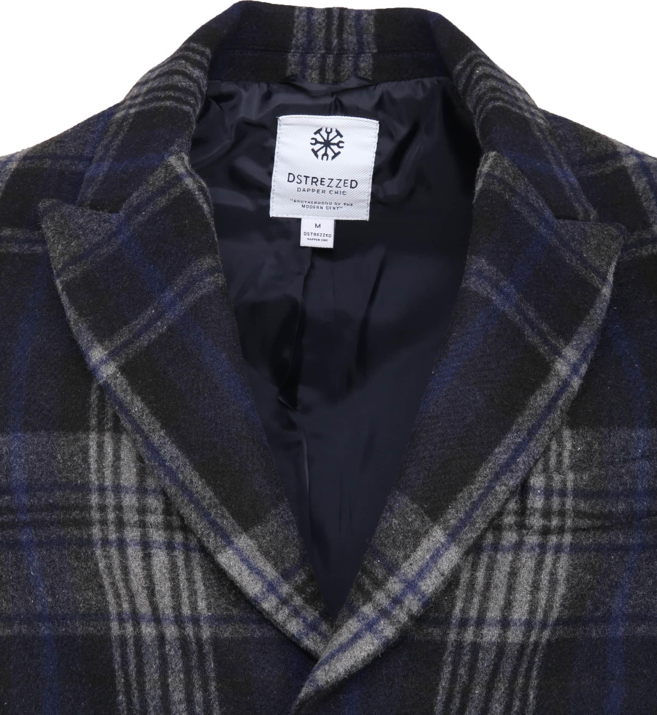 Dstrezzed Wool Check Coat foto 1