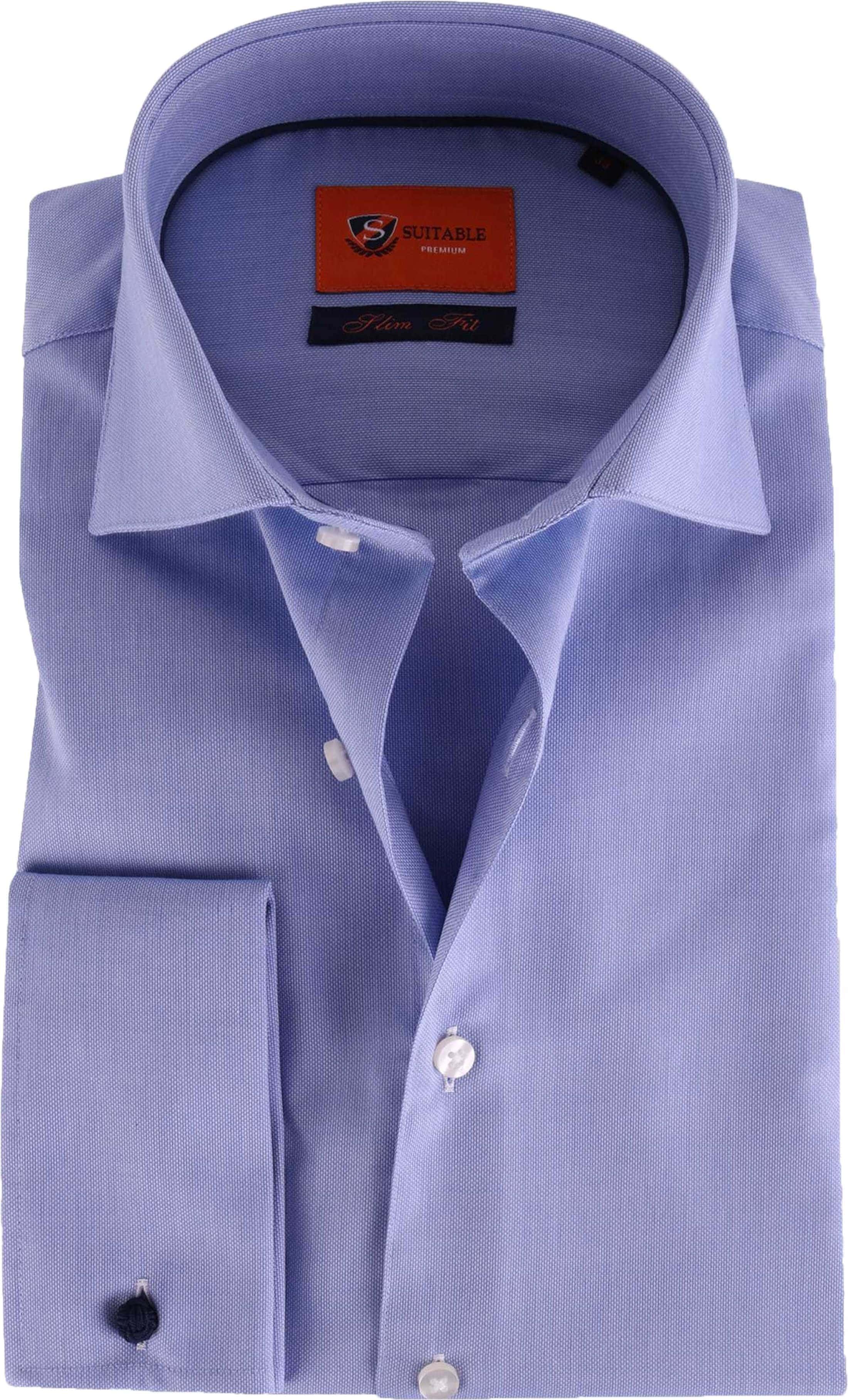 Overhemd Blauw.Dubbelmanchet Overhemd Blauw 52 21 52 21 Easycare Dc Sf Blstr