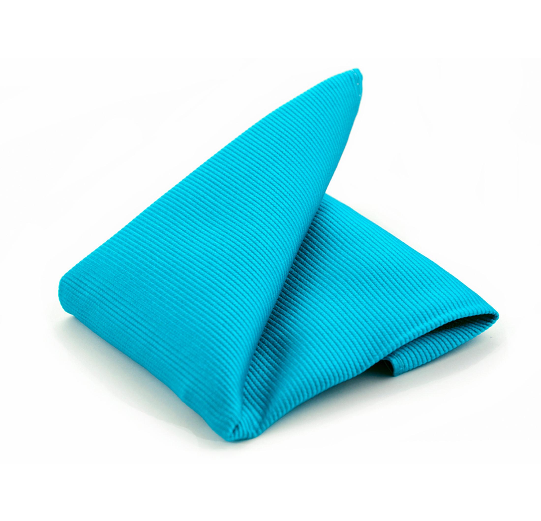 Einstecktuch Seide Aqua Blau F24