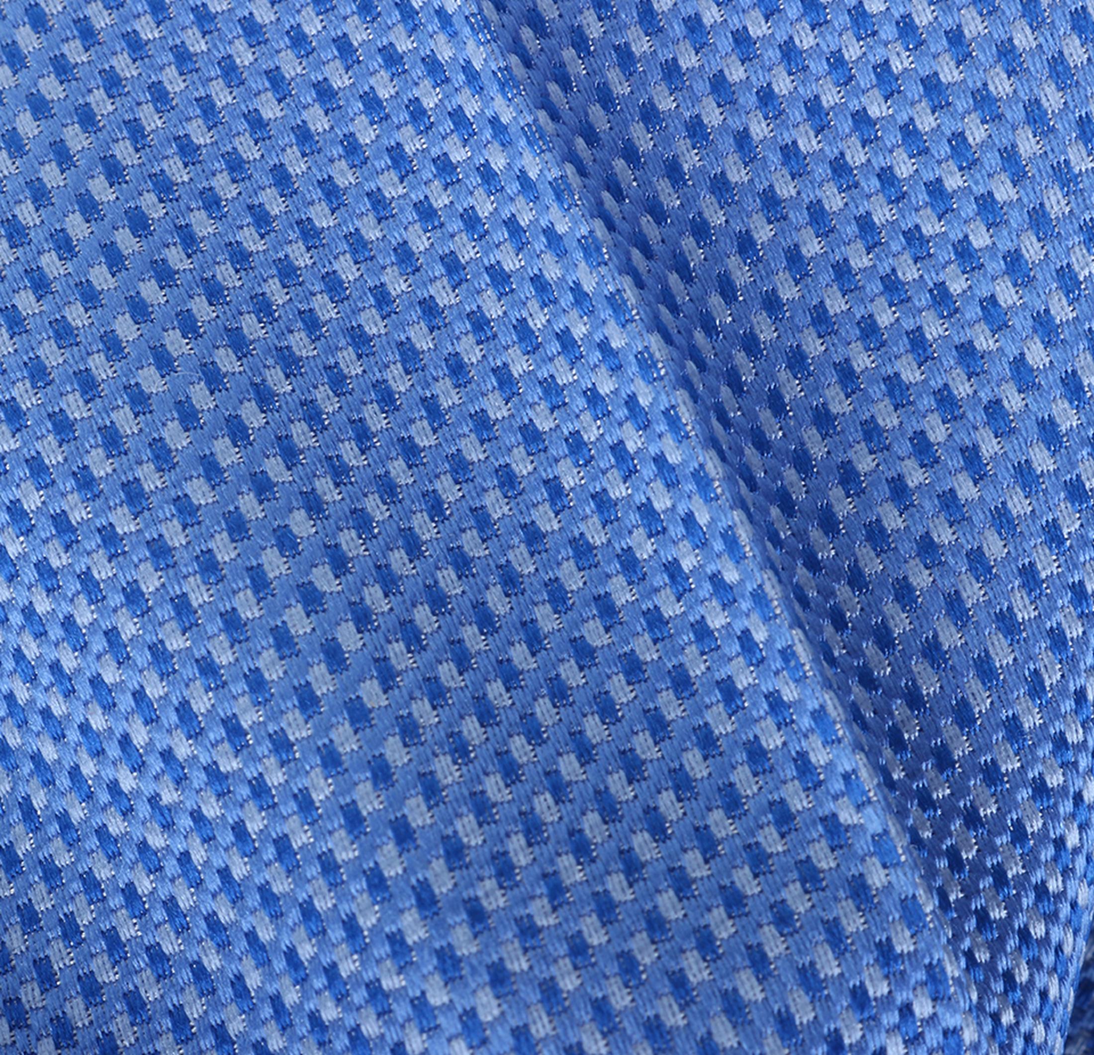 Einstecktuch Seide Blau Motiv foto 1