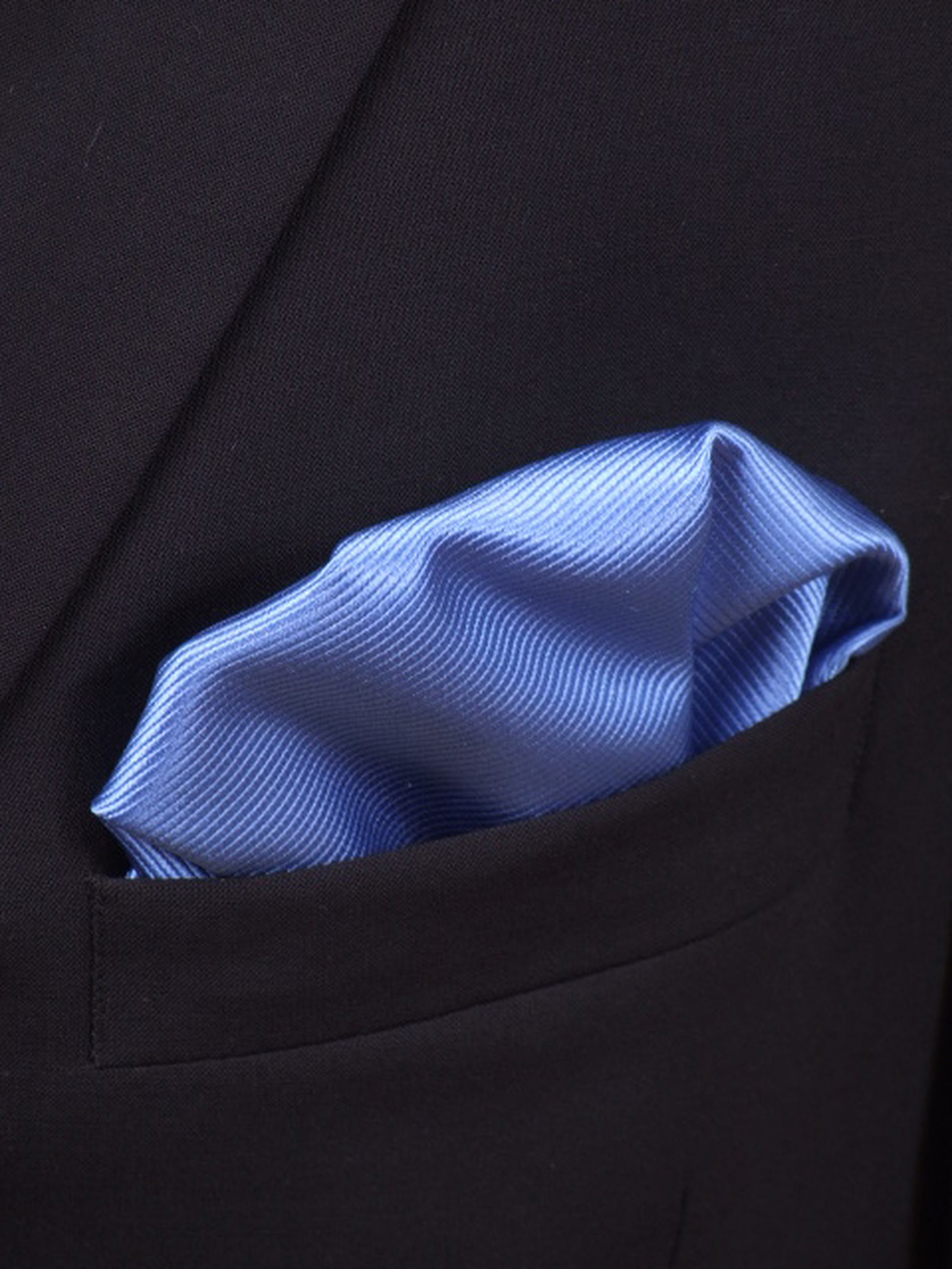 Einstecktuch Seide Königsblau F05 Foto 1