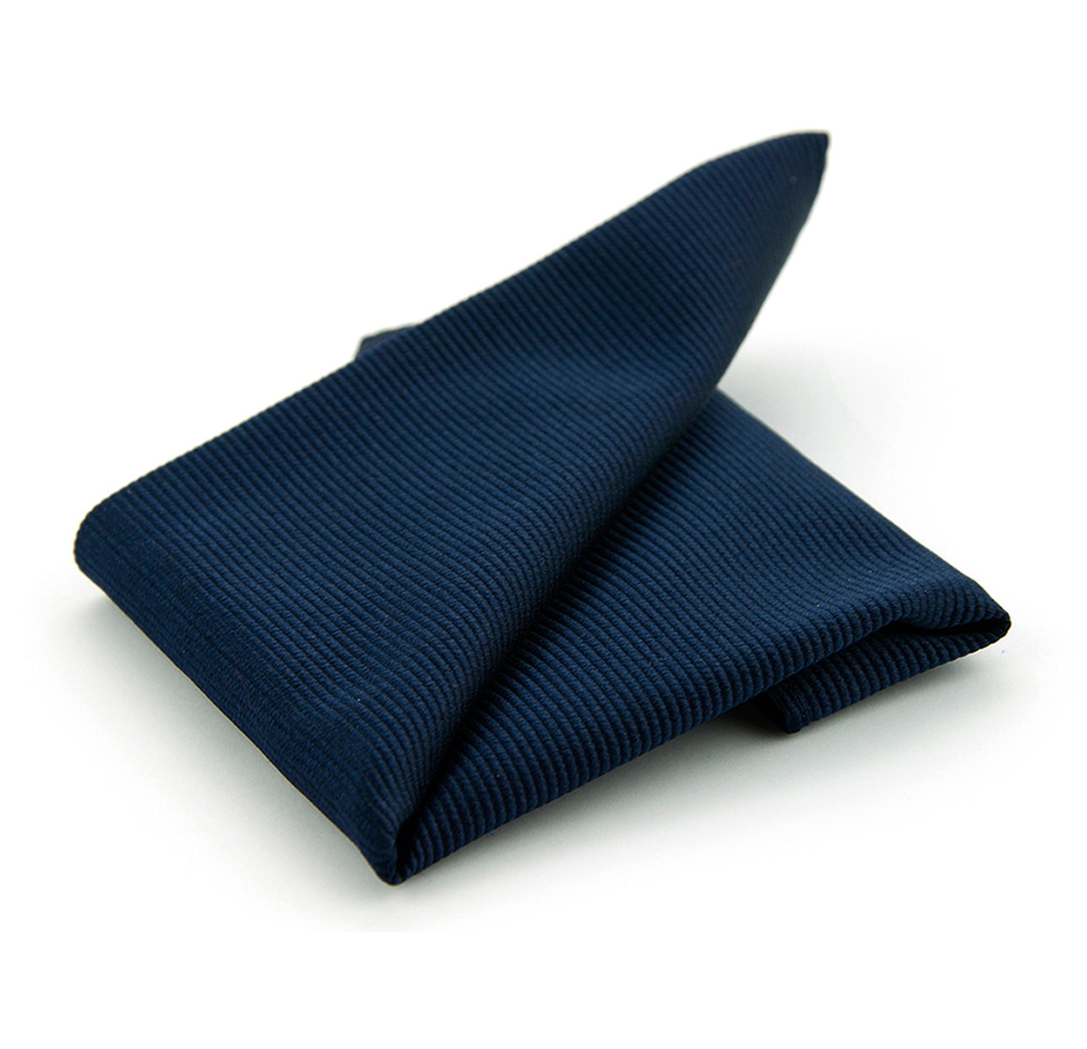 Einstecktuch Seide Marineblau F35 foto 0