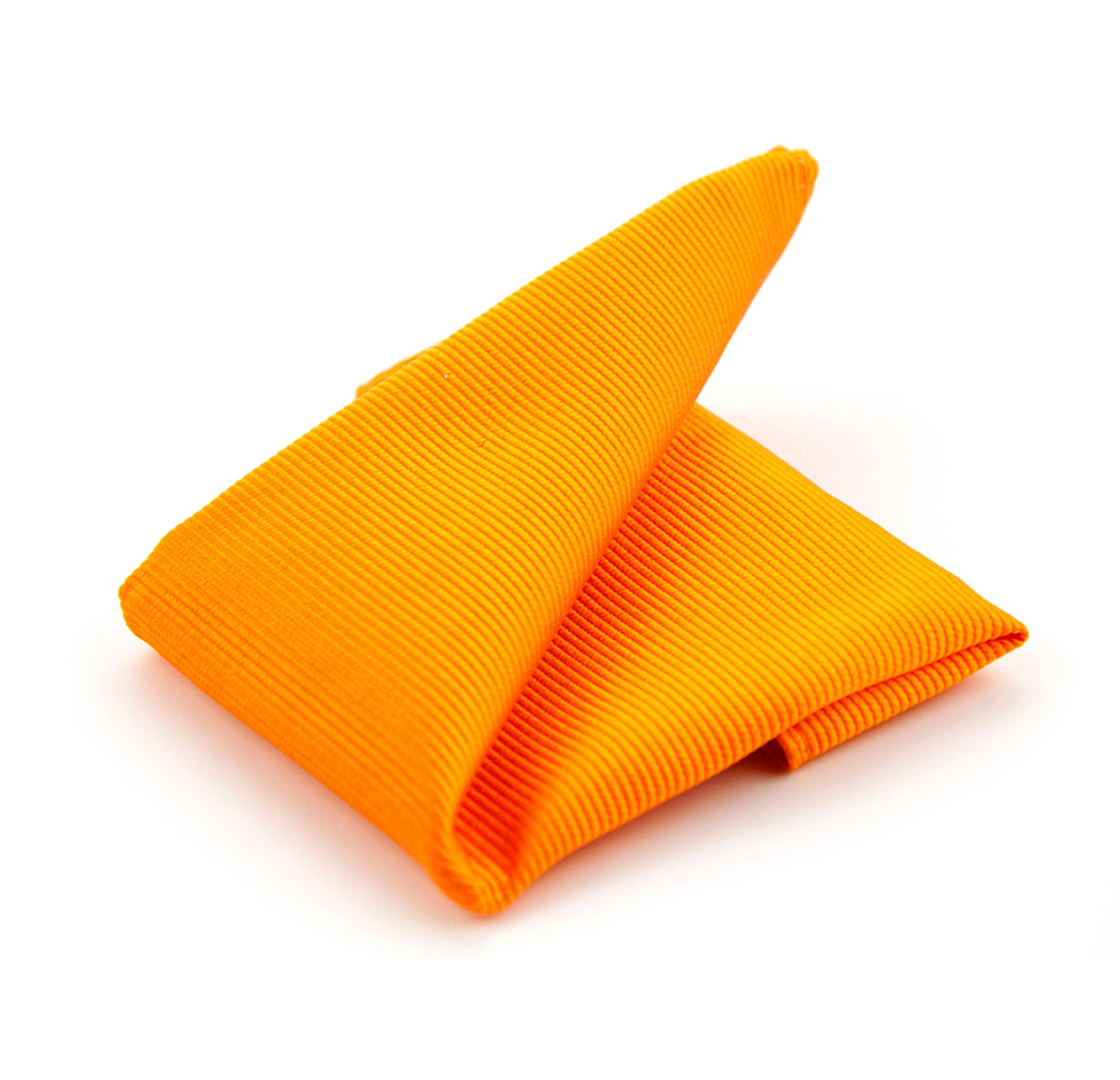 Einstecktuch Seide Orange F01 foto 0