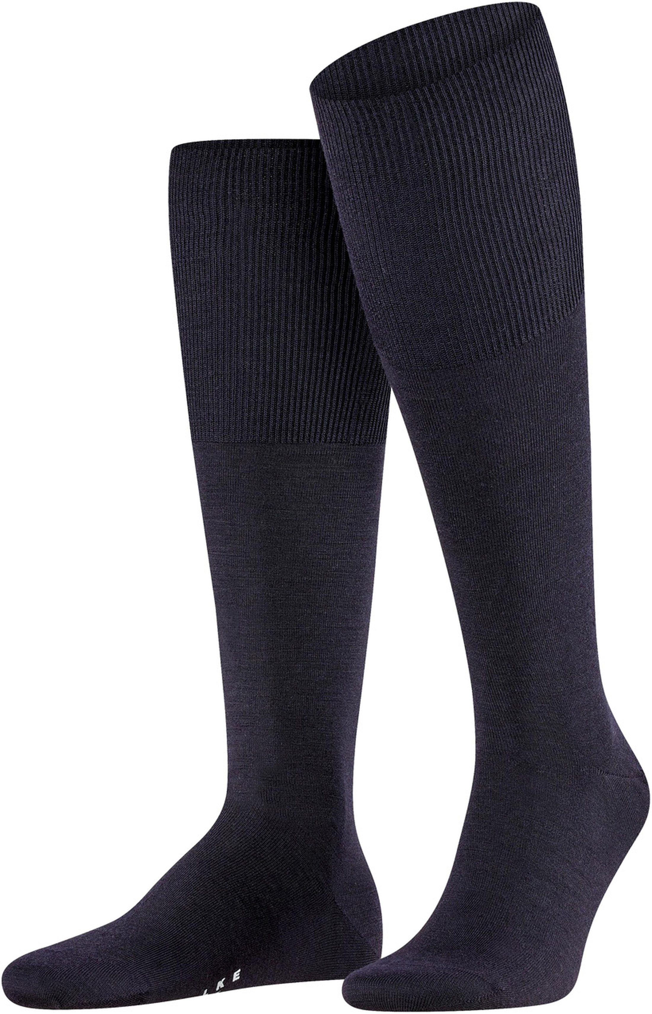 Falke Airport Knee Socks Navy 6370