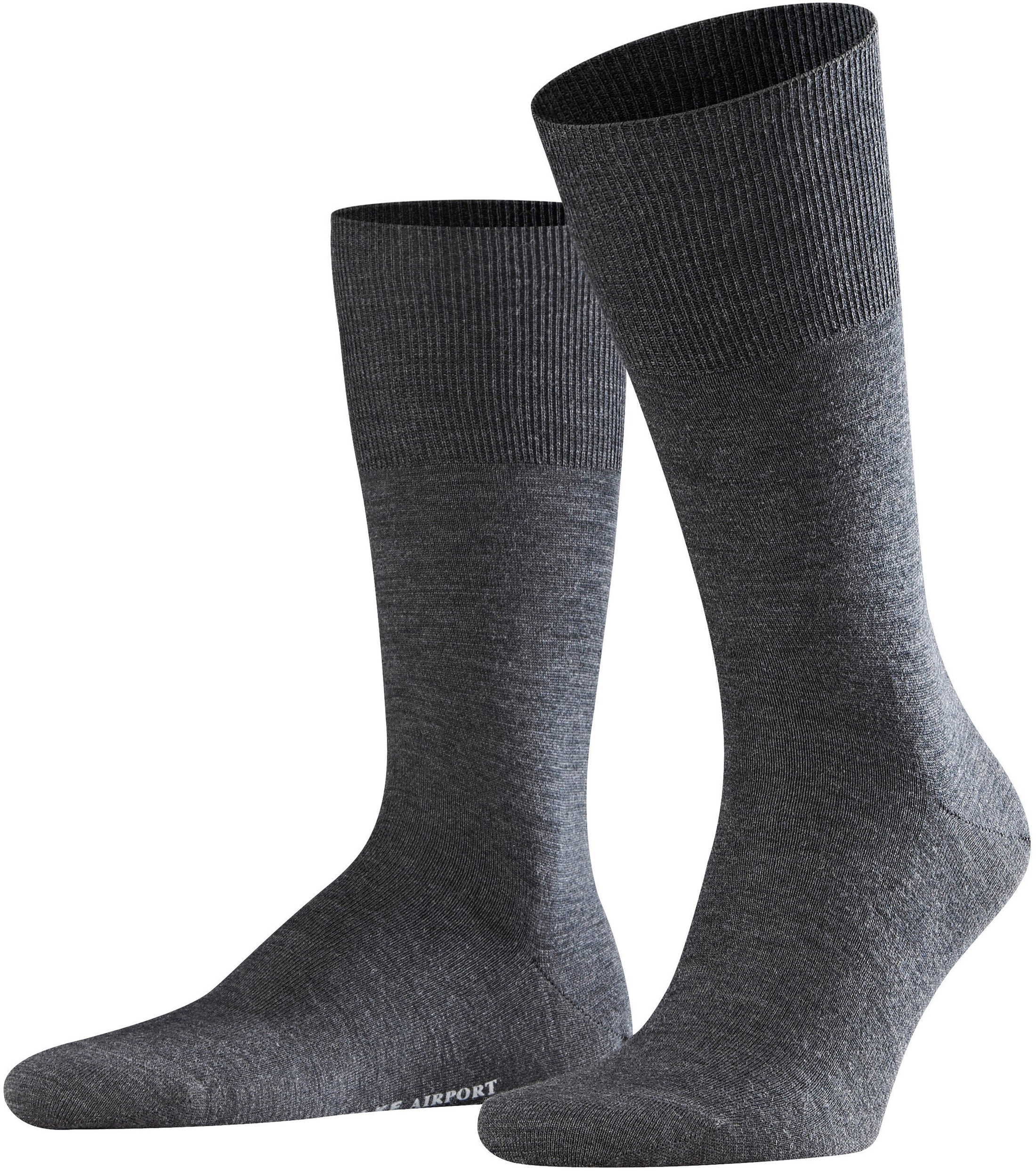 FALKE Airport Socken Asphalt 3180 foto 0