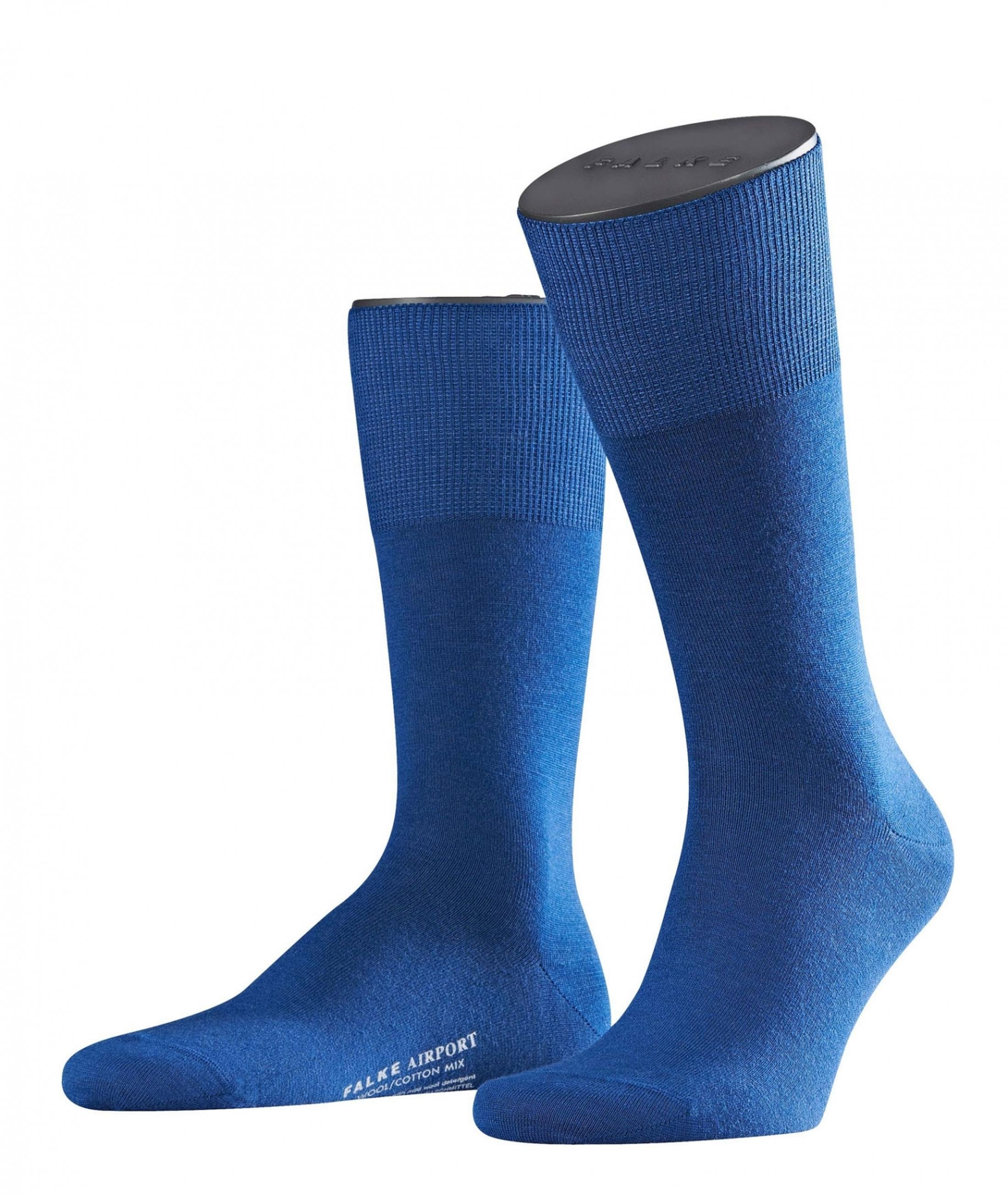 FALKE Airport Socken Indigo Blau 6000 foto 0