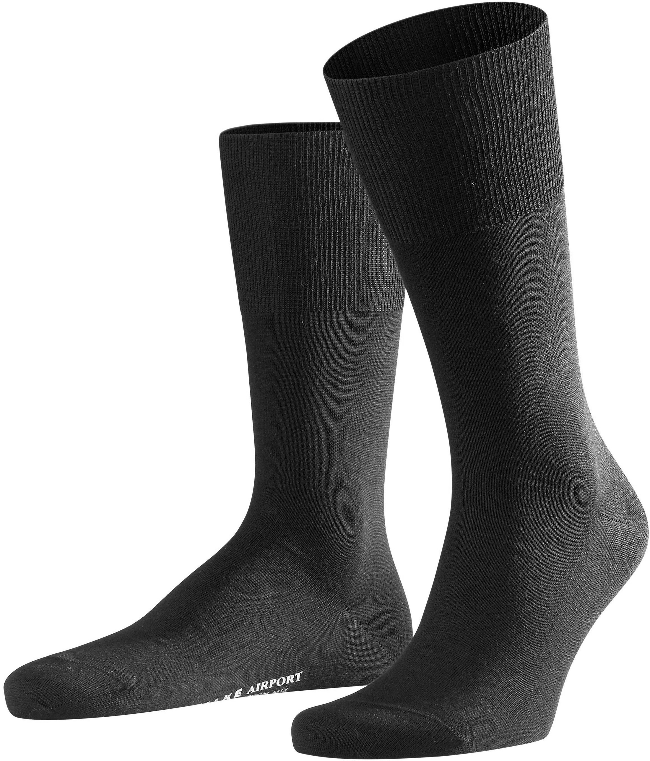 Falke Airport Socks Black 3000 foto 0