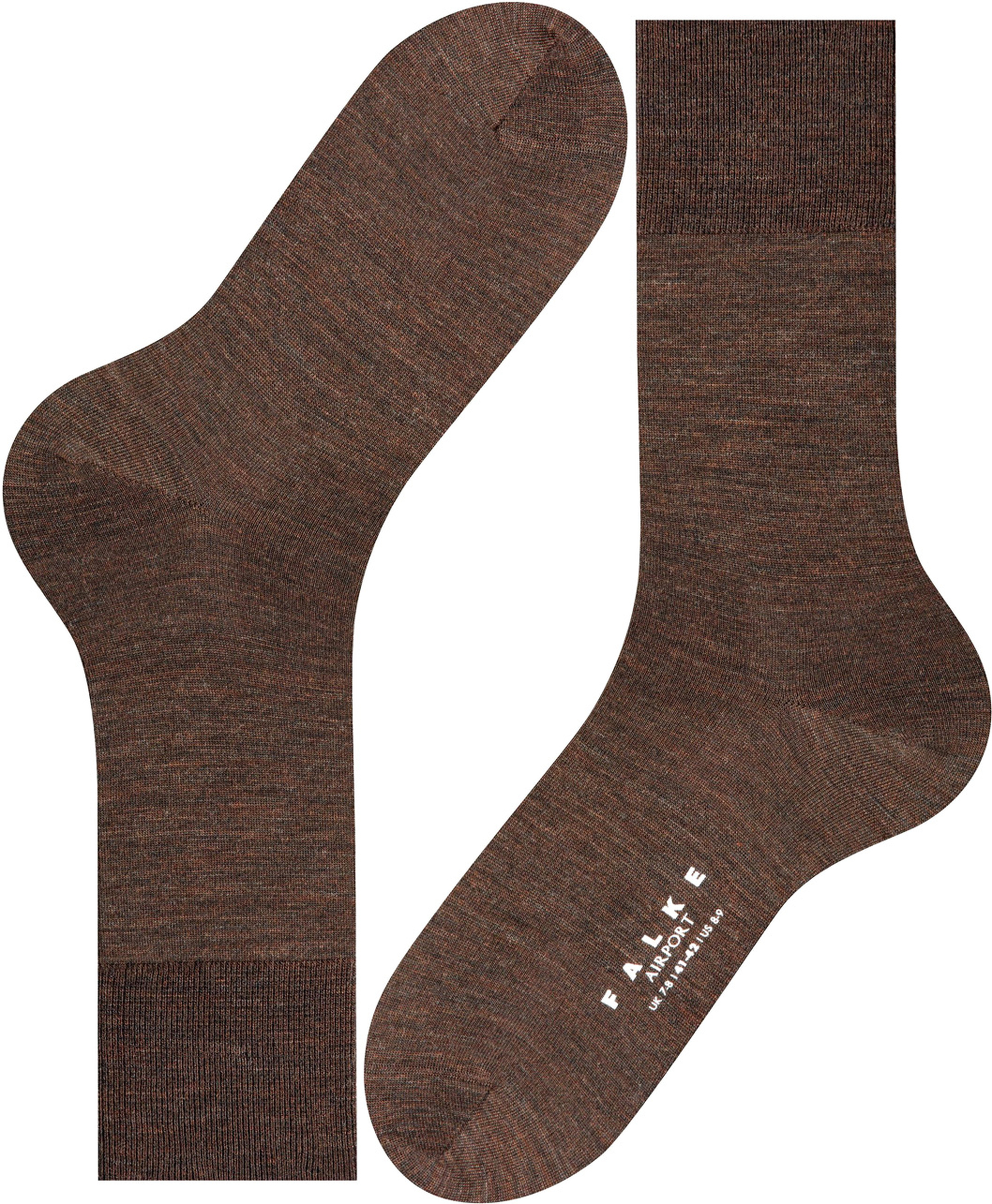 Falke Airport Socks Brown 5450