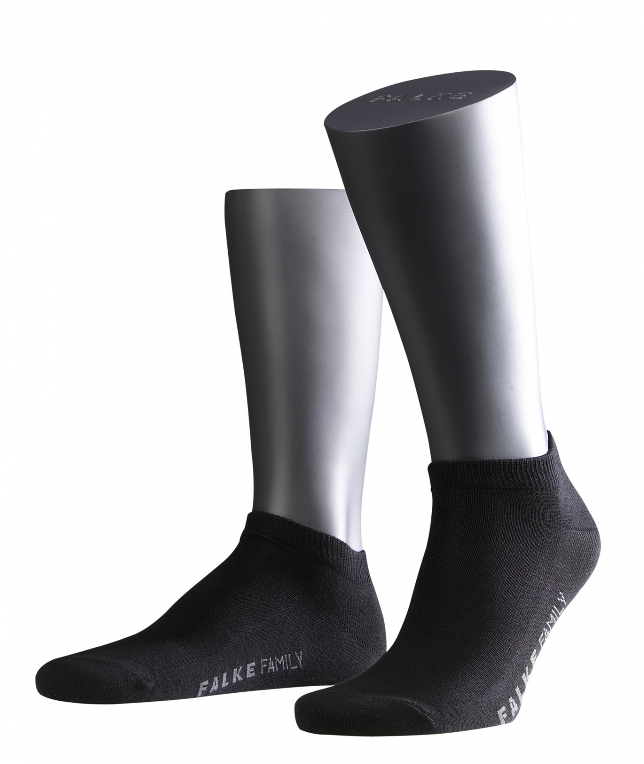 FALKE Family Sneaker Socken Schwarz 3000 foto 0