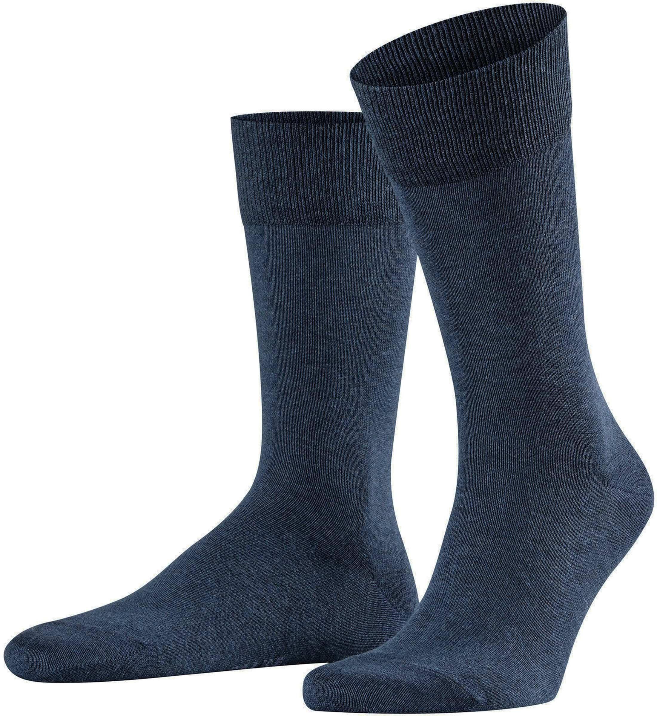 Falke Happy Sokken 2 Paar Donkerblauw Melange