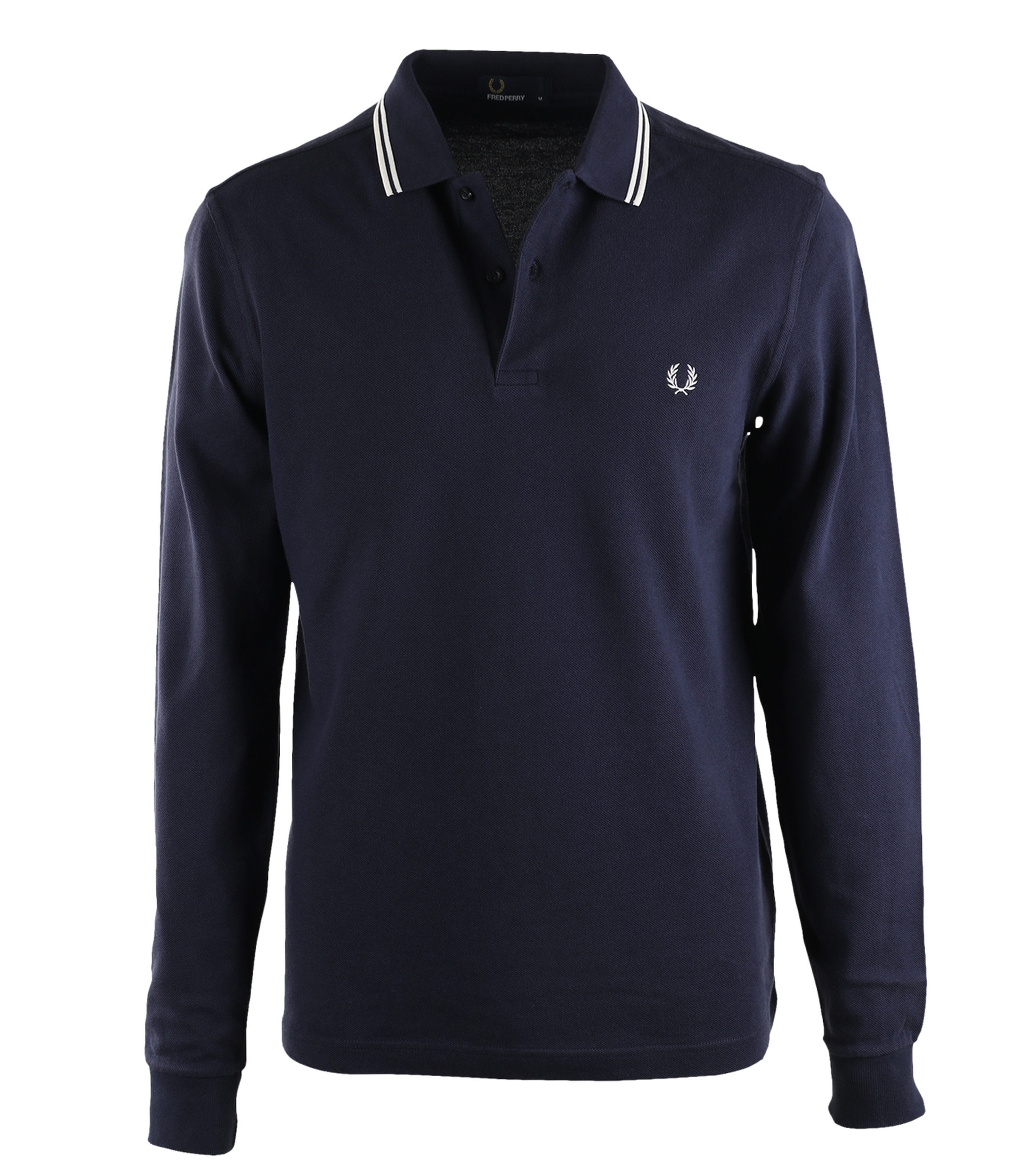 Fred Perry Longsleeve Polo Donkerblauw 226 foto 0