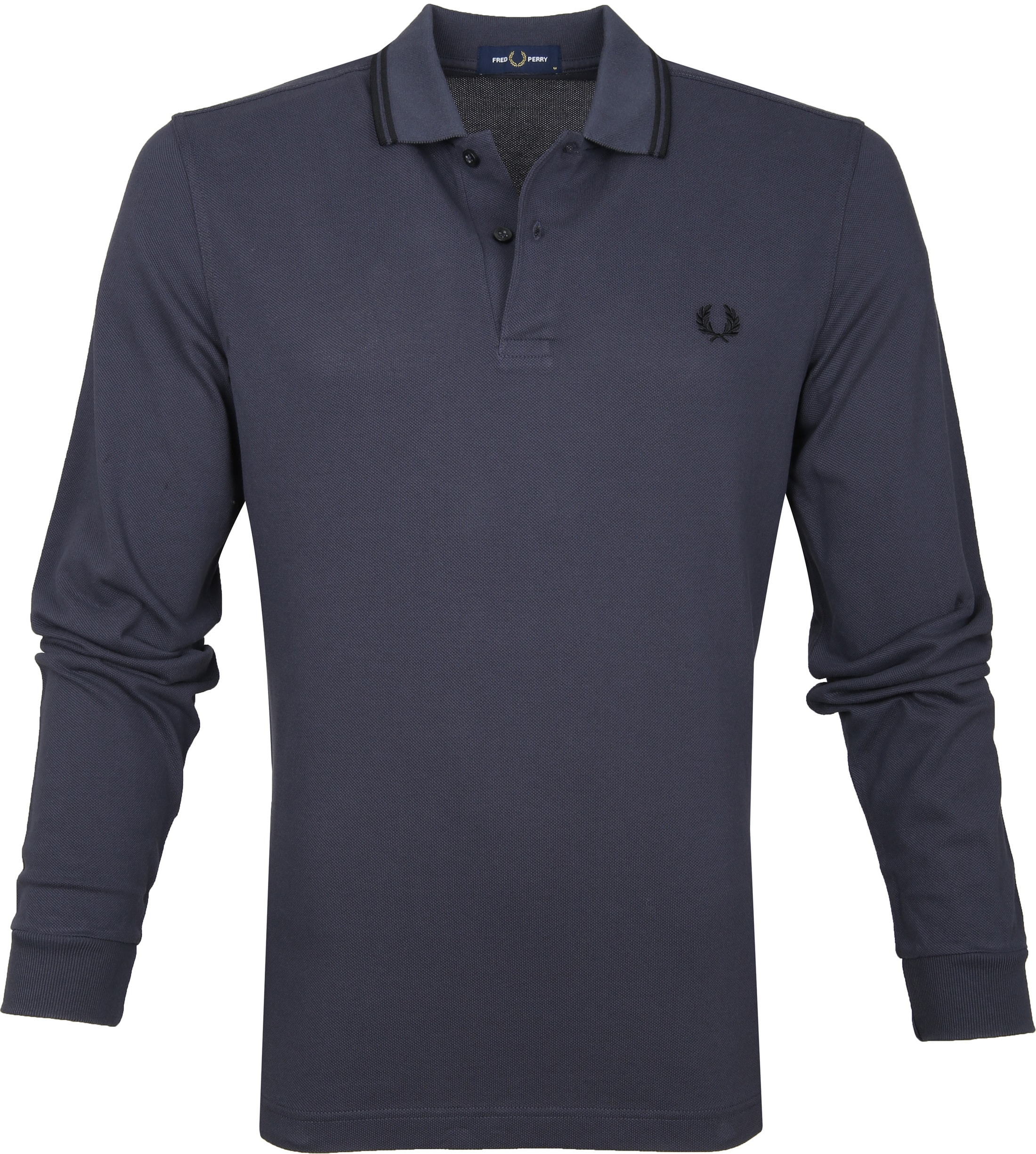 Fred Perry LS Polo Antraciet foto 0