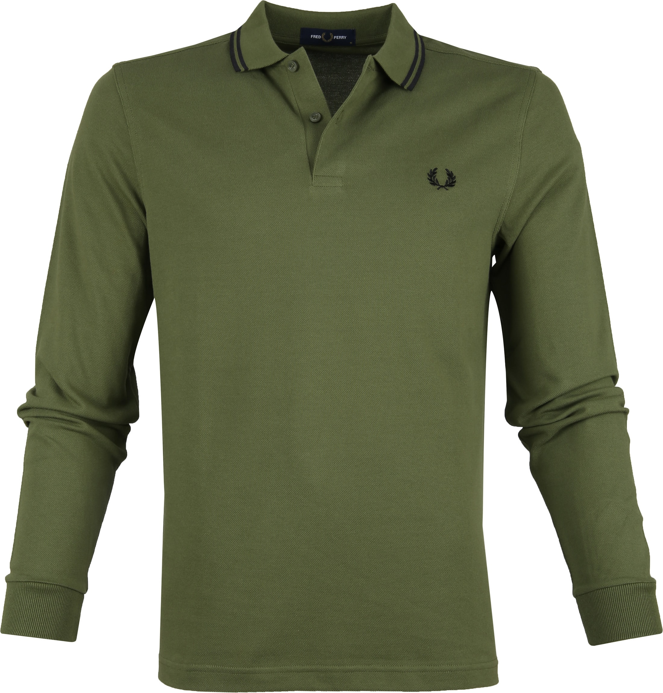 Fred Perry LS Polo Donkergroen foto 0