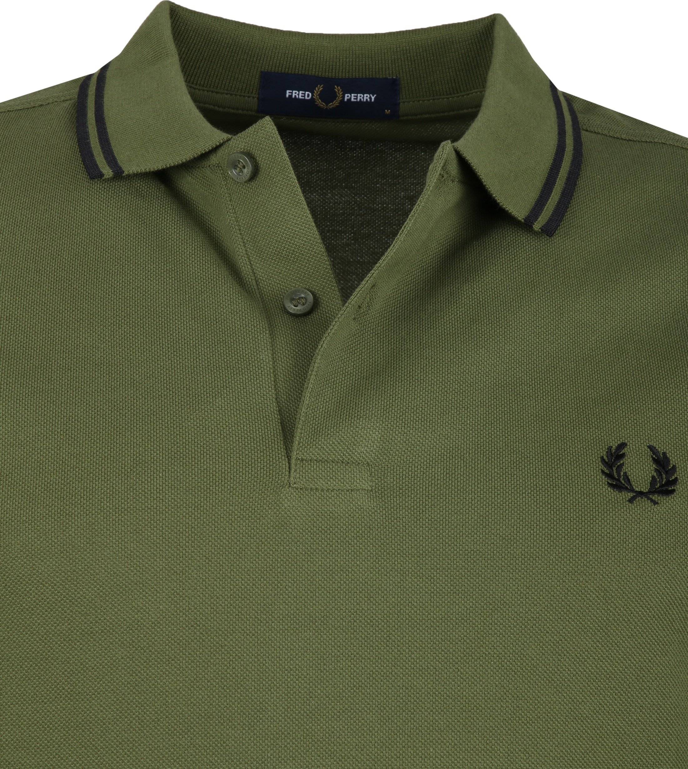 Fred Perry LS Polo Donkergroen foto 1