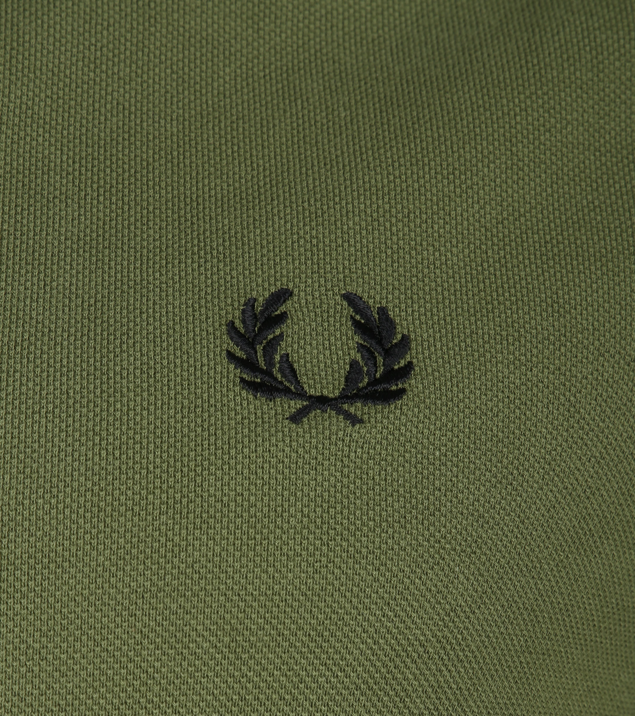 Fred Perry LS Polo Donkergroen foto 2