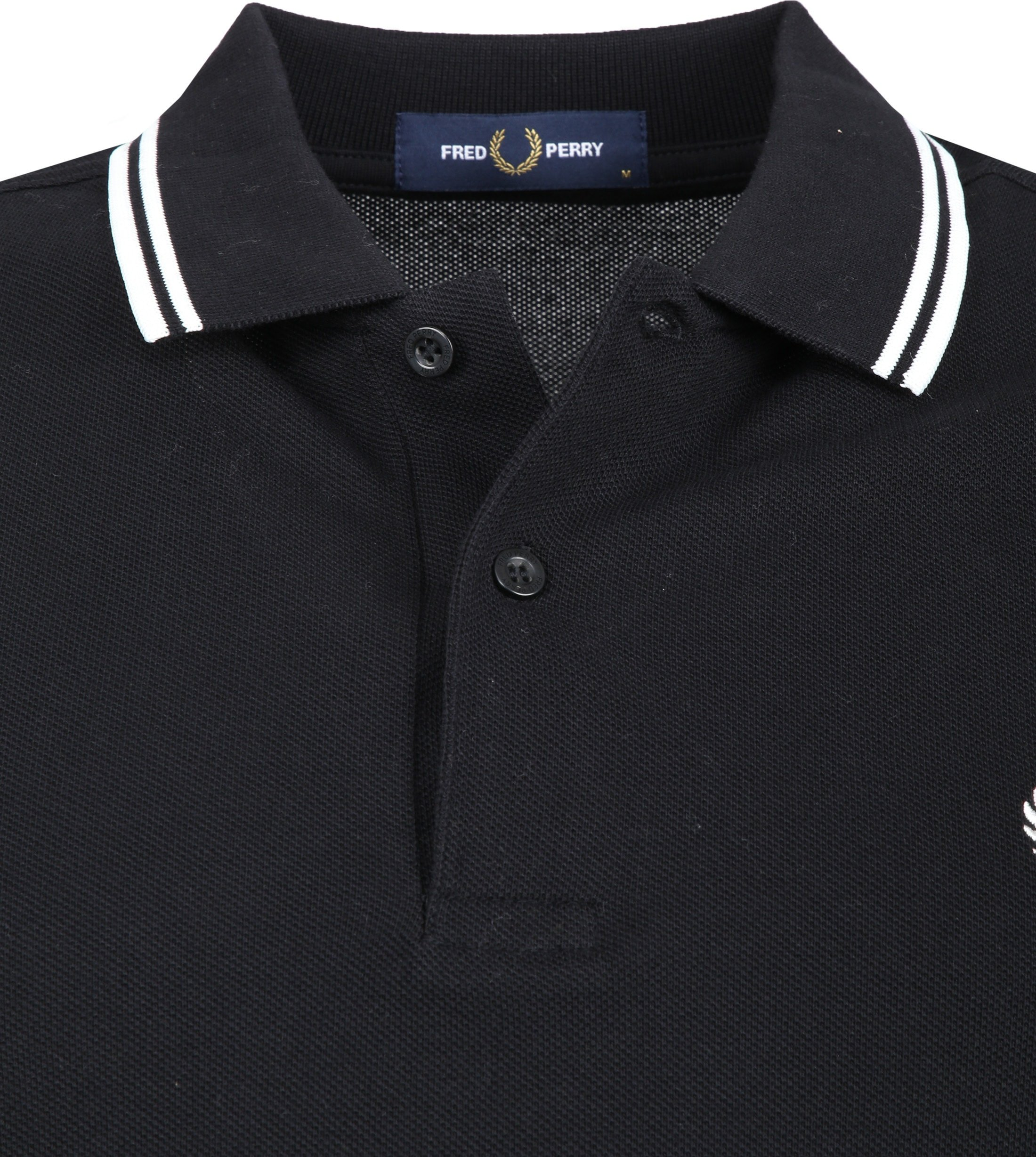 Fred Perry LS Polo Zwart 102 foto 1