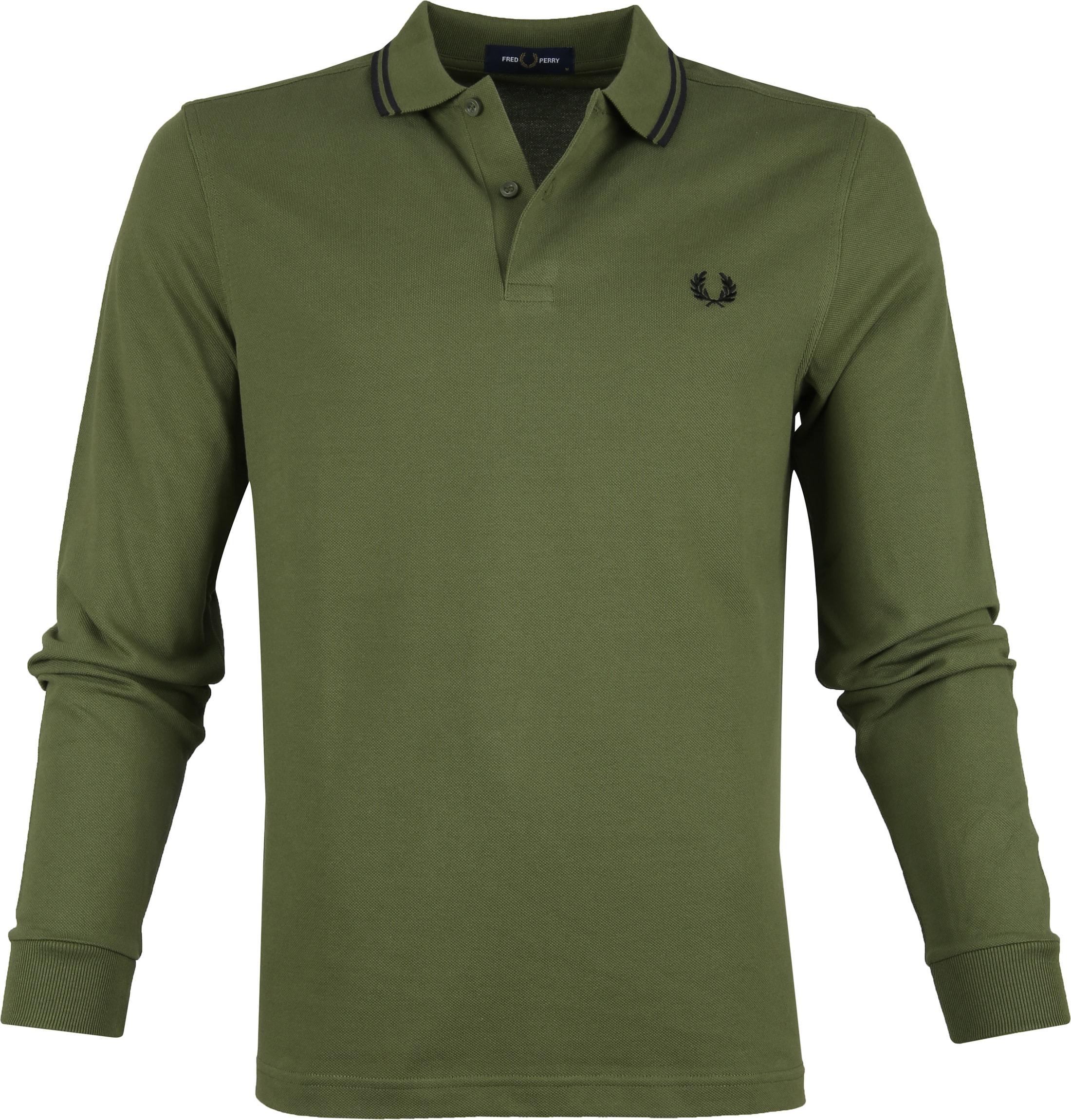 Fred Perry LS Poloshirt Dark Green foto 0
