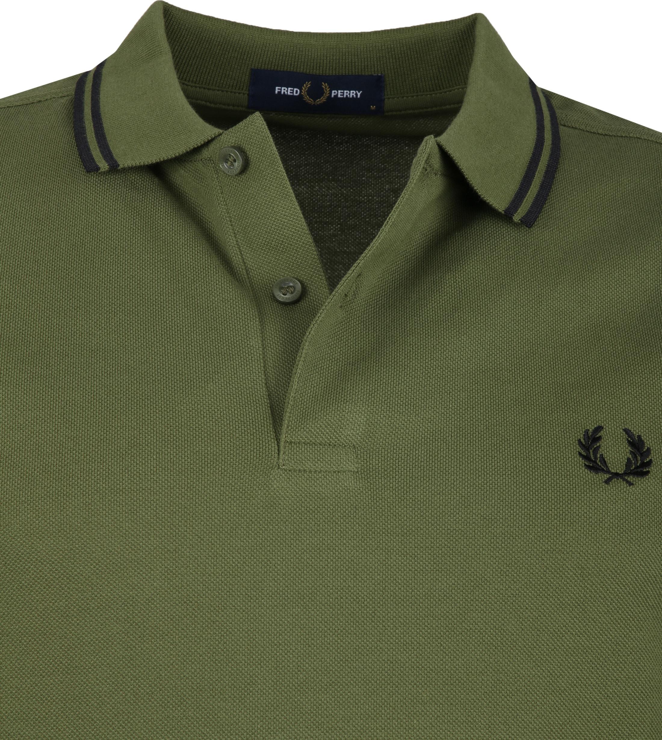 Fred Perry LS Poloshirt Dark Green foto 1