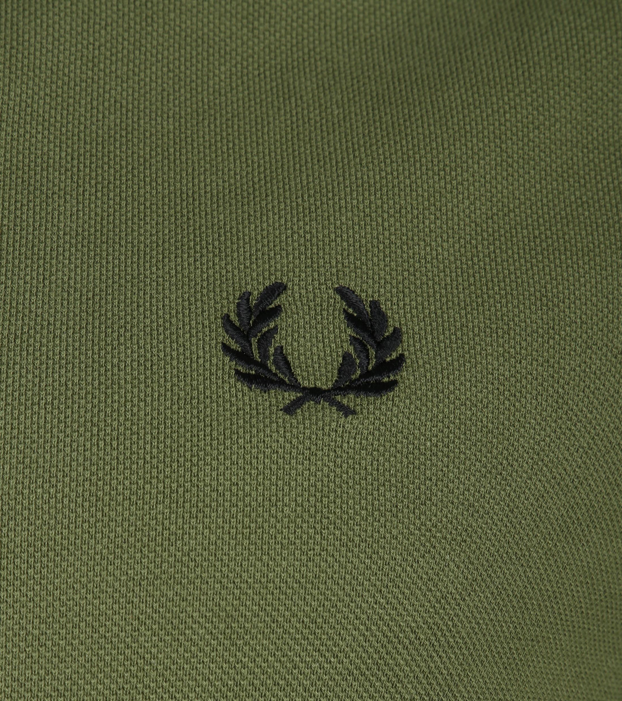 Fred Perry LS Poloshirt Dark Green foto 2