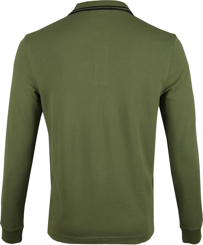Fred Perry LS Poloshirt Dark Green foto 3