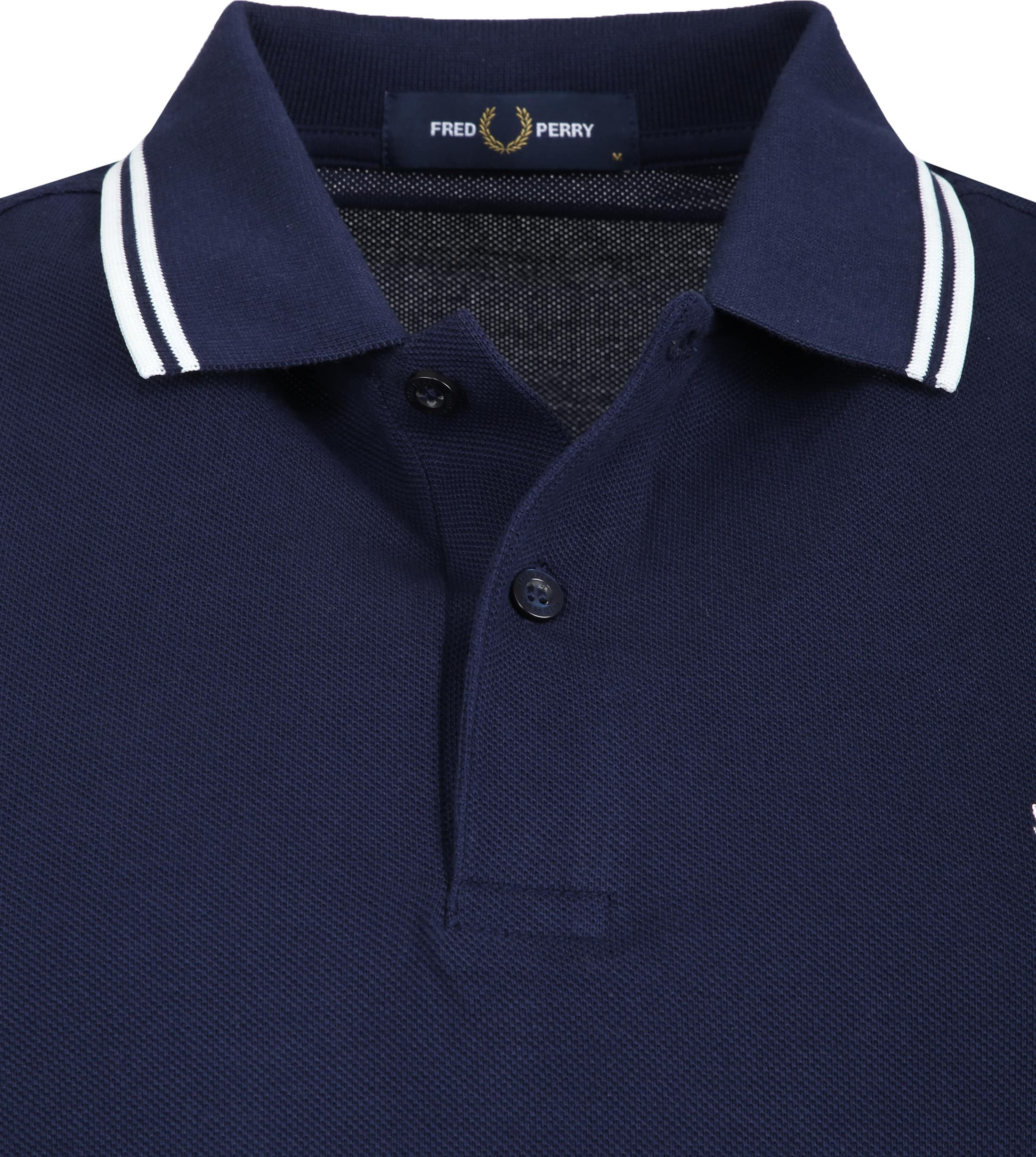 Fred Perry LS Poloshirt Navy I86 foto 1