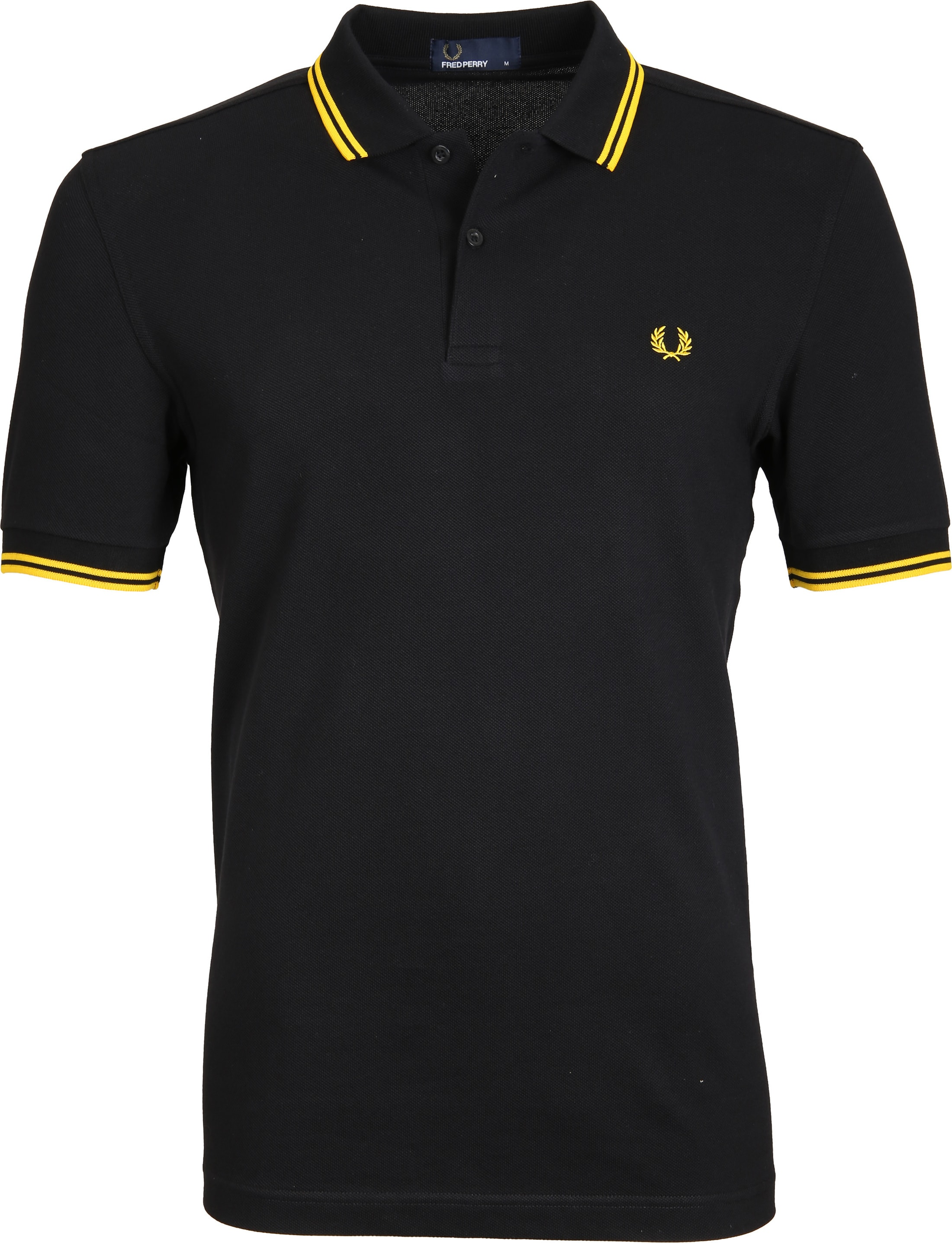 Fred Perry Polo Black Yellow Tip foto 0