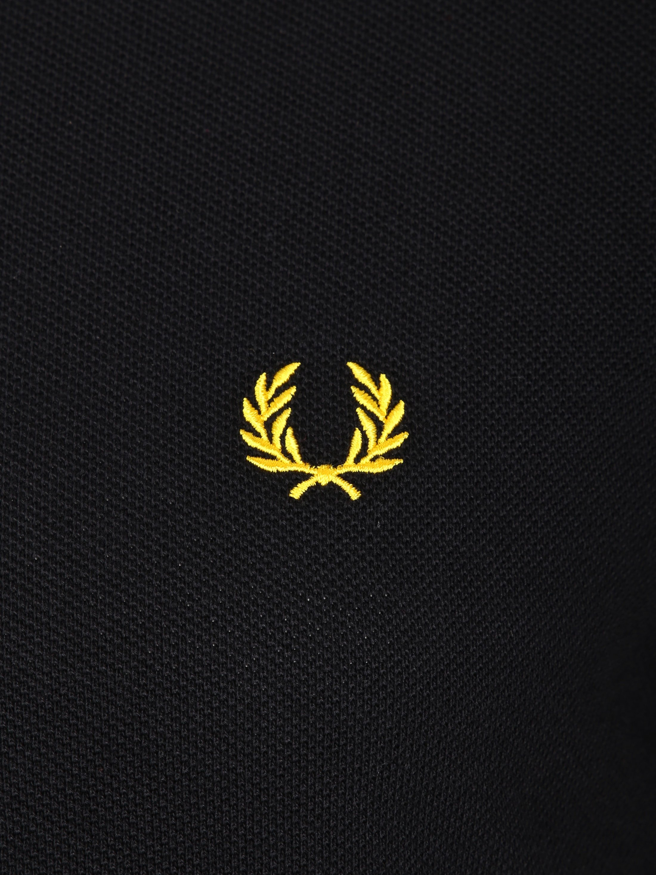 Fred Perry Polo Black Yellow Tip foto 1