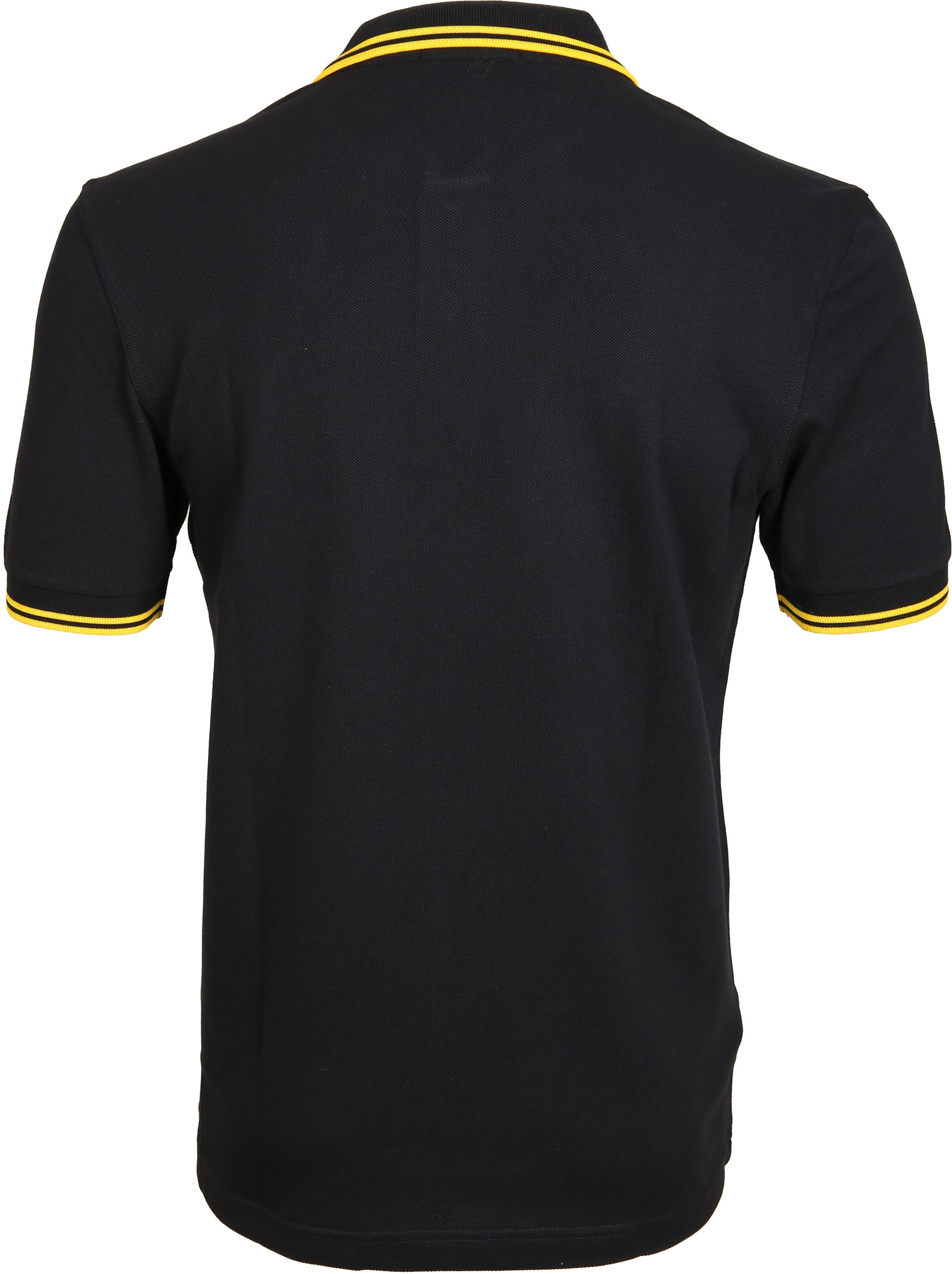 Fred Perry Polo Black Yellow Tip