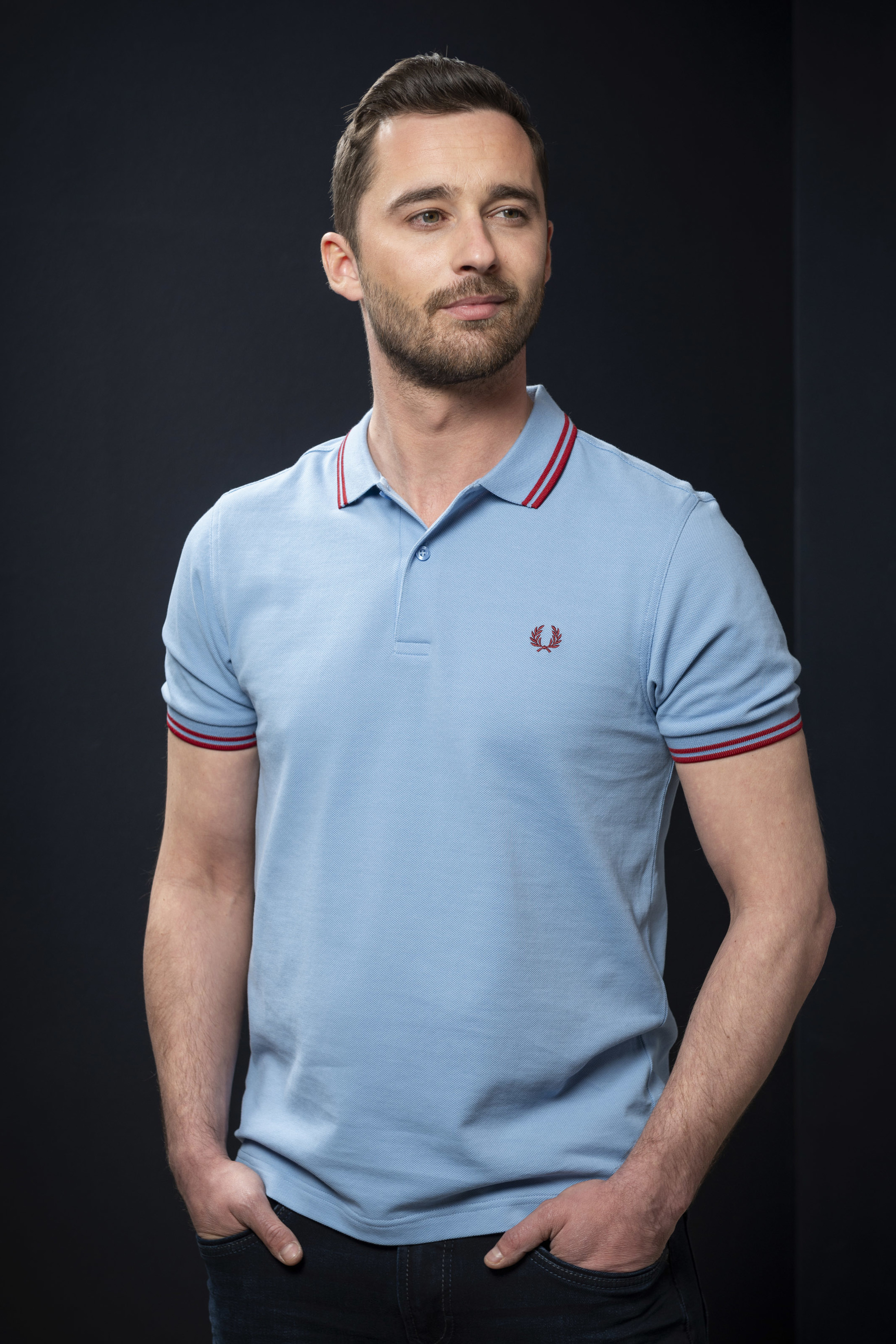 Fred Perry Polo Blauw 444 foto 3