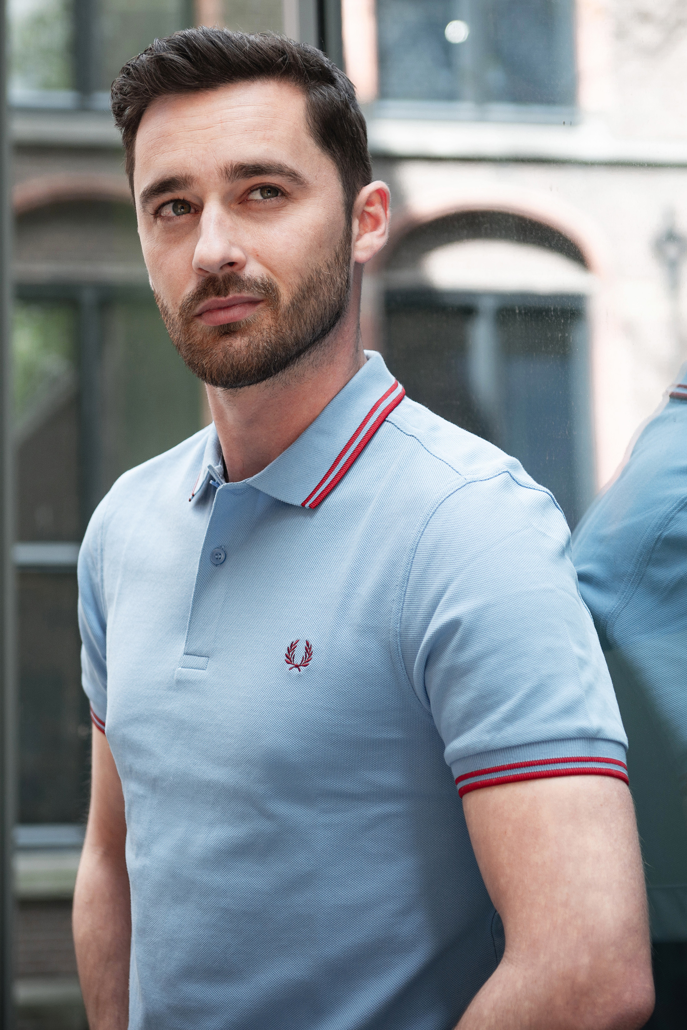 Fred Perry Polo Blauw 444 foto 4