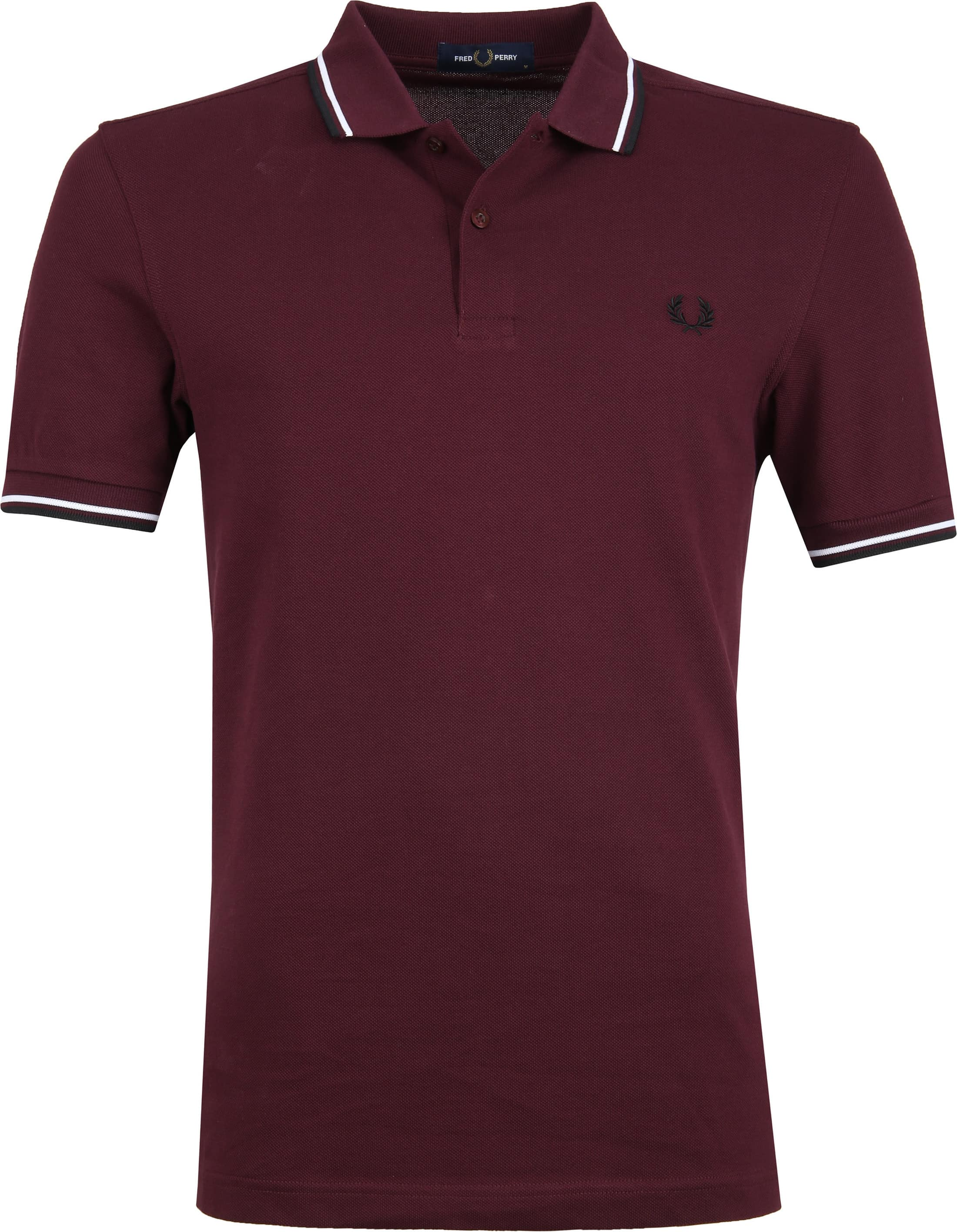 Fred Perry Polo Bordeaux I74 foto 0