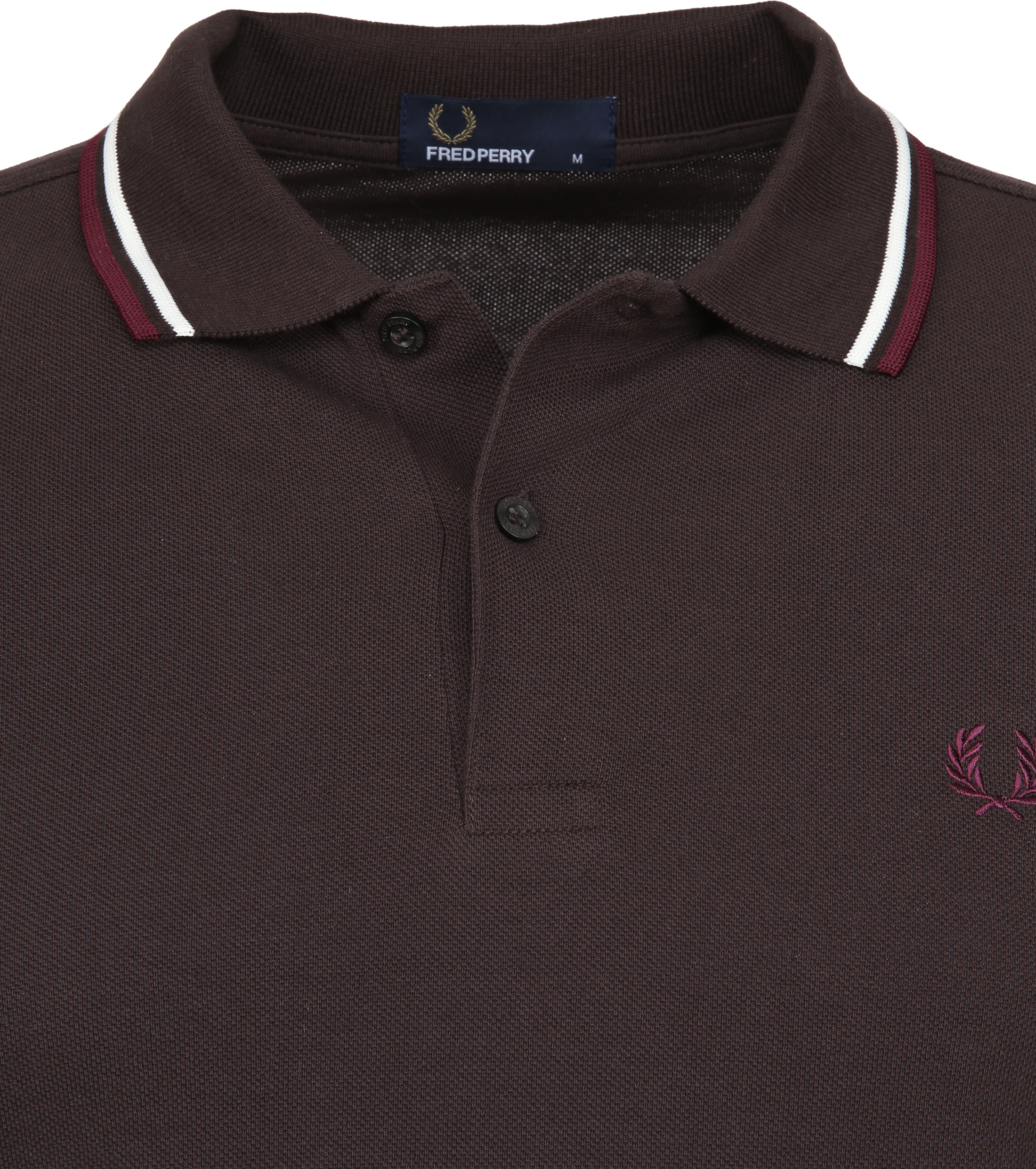 Fred Perry Polo Braun F65 foto 2