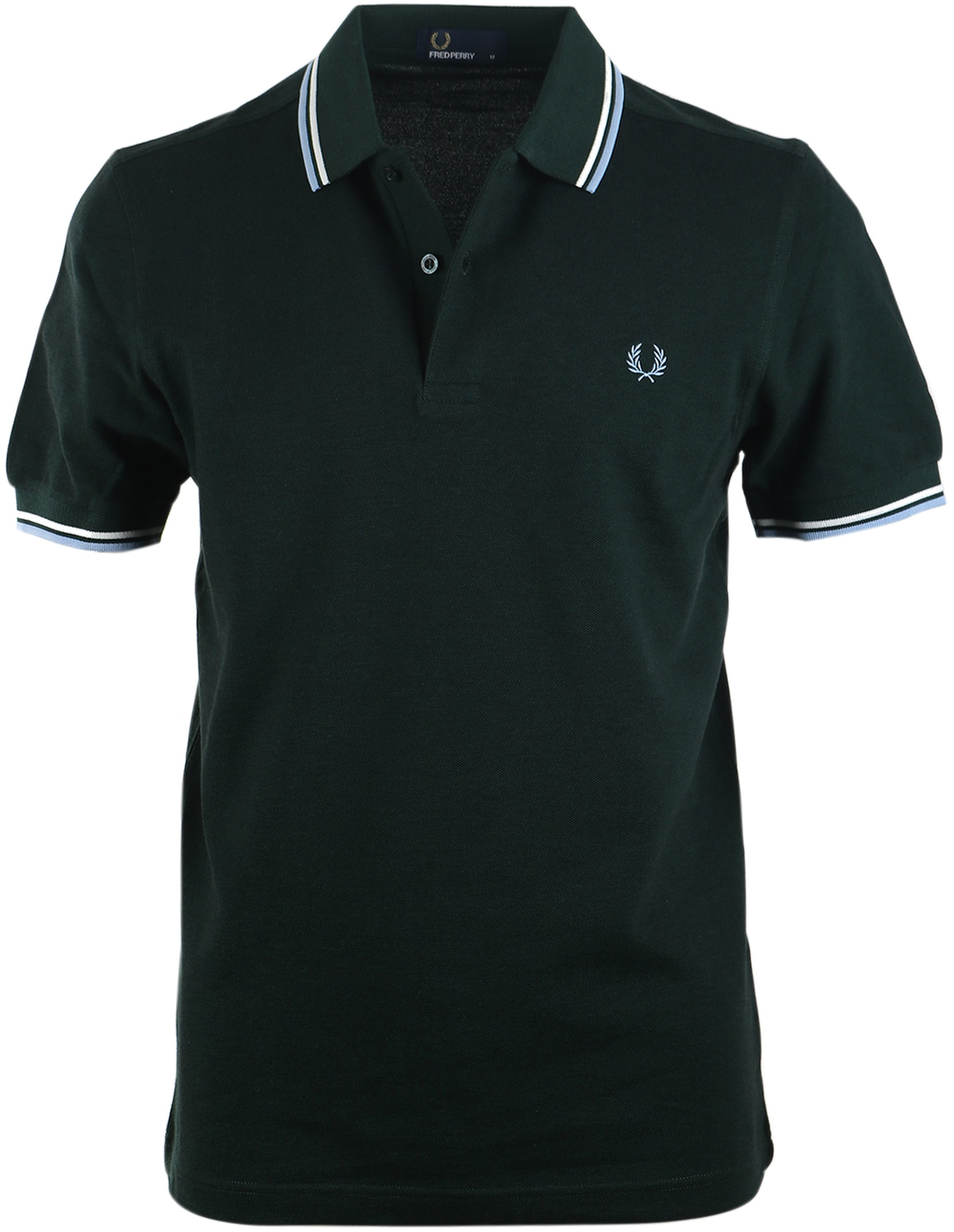 Fred Perry Polo Donkergroen E05 foto 0