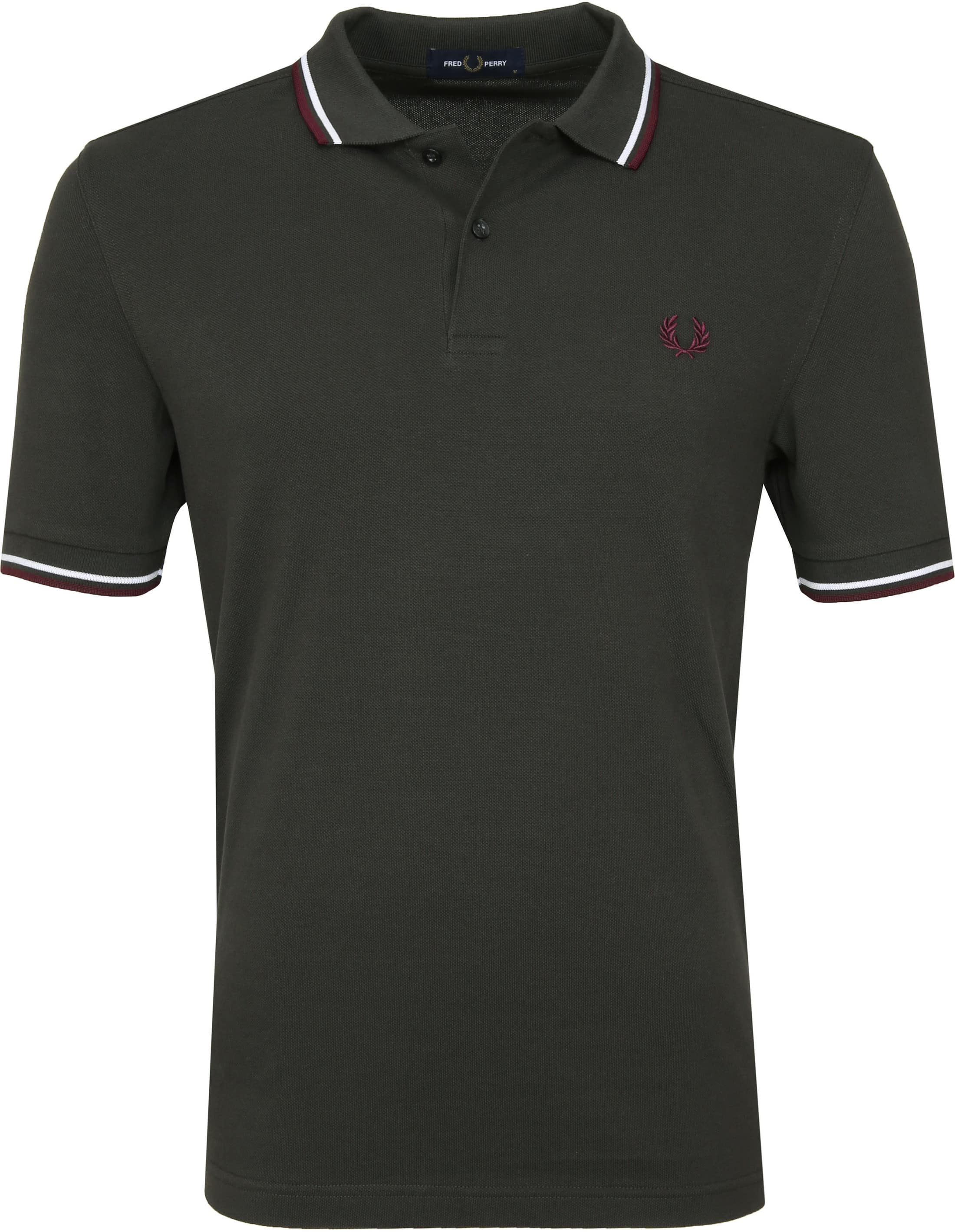 Fred Perry Polo Donkergroen I75 foto 0