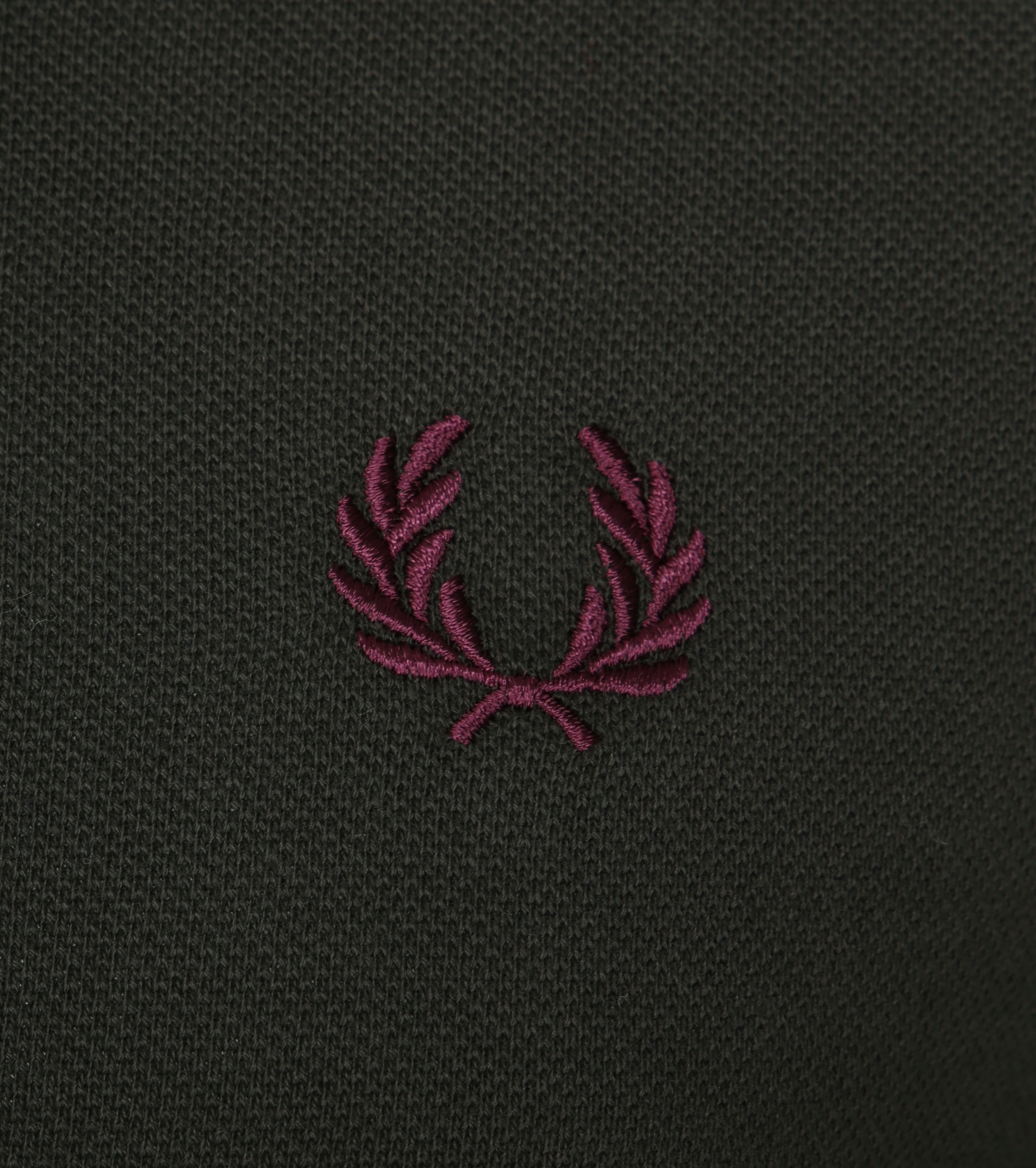 Fred Perry Polo Donkergroen I75 foto 1