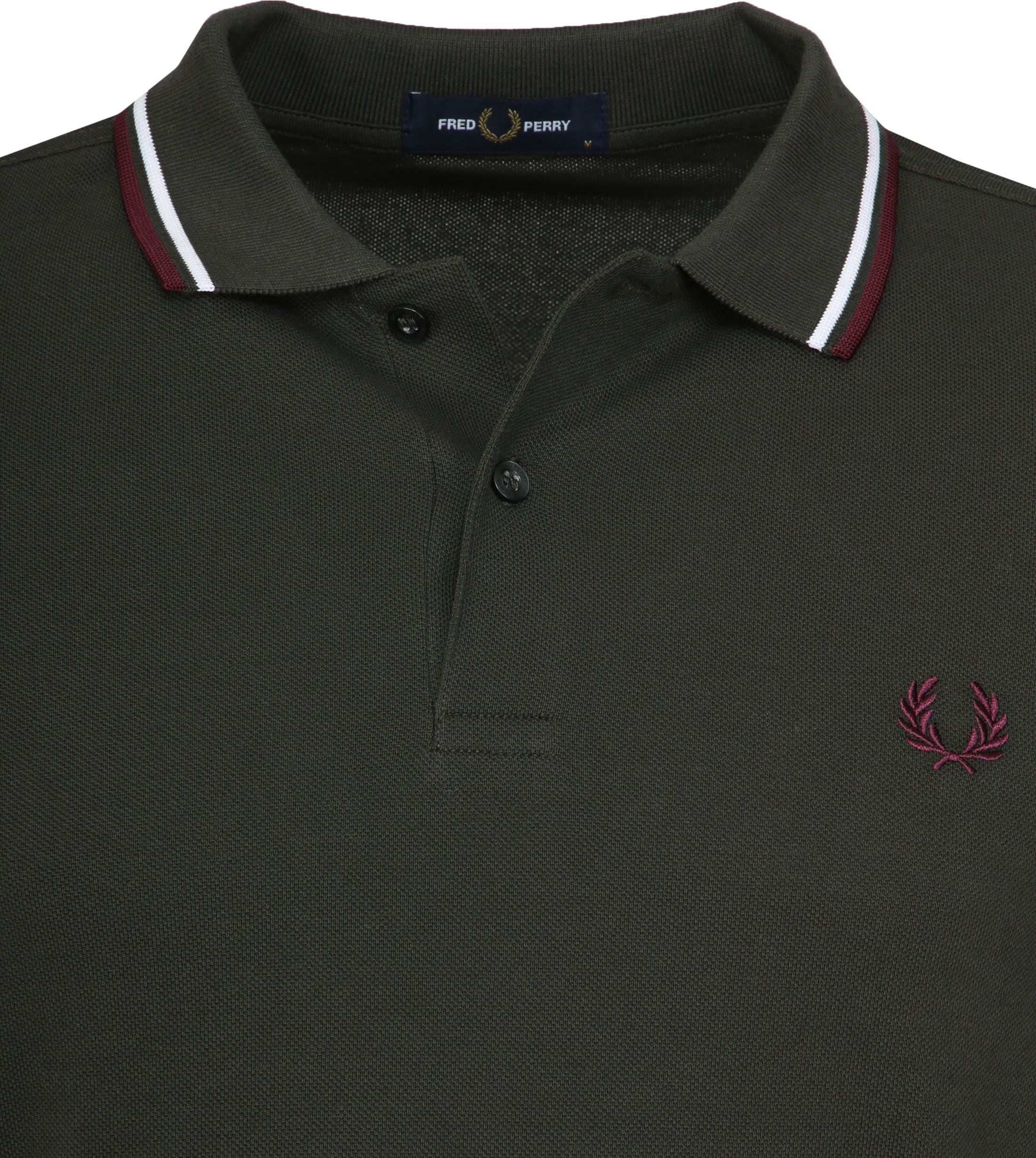 Fred Perry Polo Donkergroen I75 foto 2