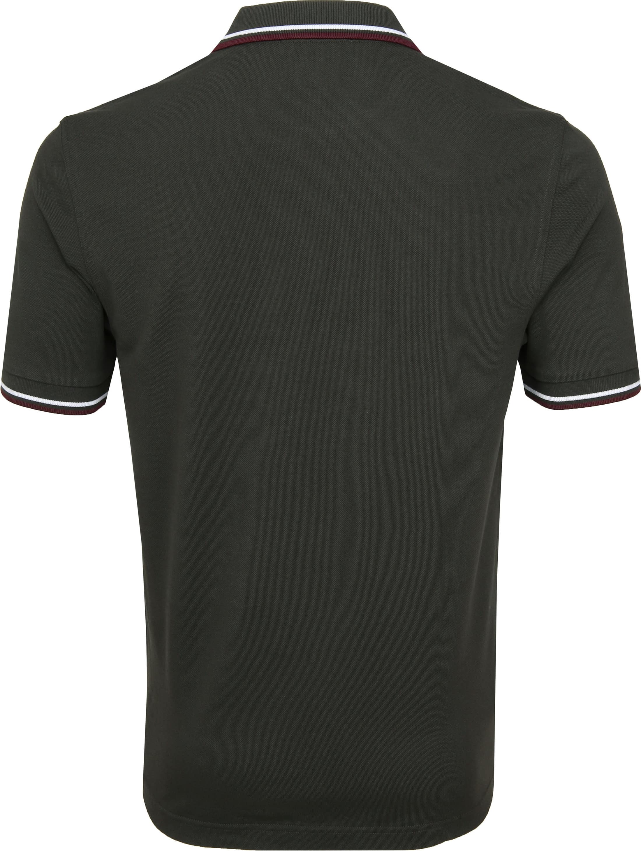 Fred Perry Polo Donkergroen I75 foto 3