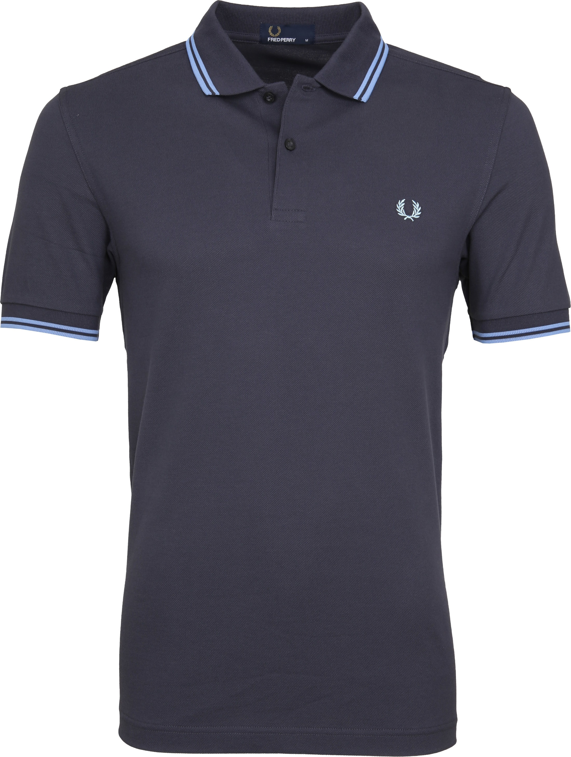 Fred Perry Polo Grijs Blauw C12 foto 0
