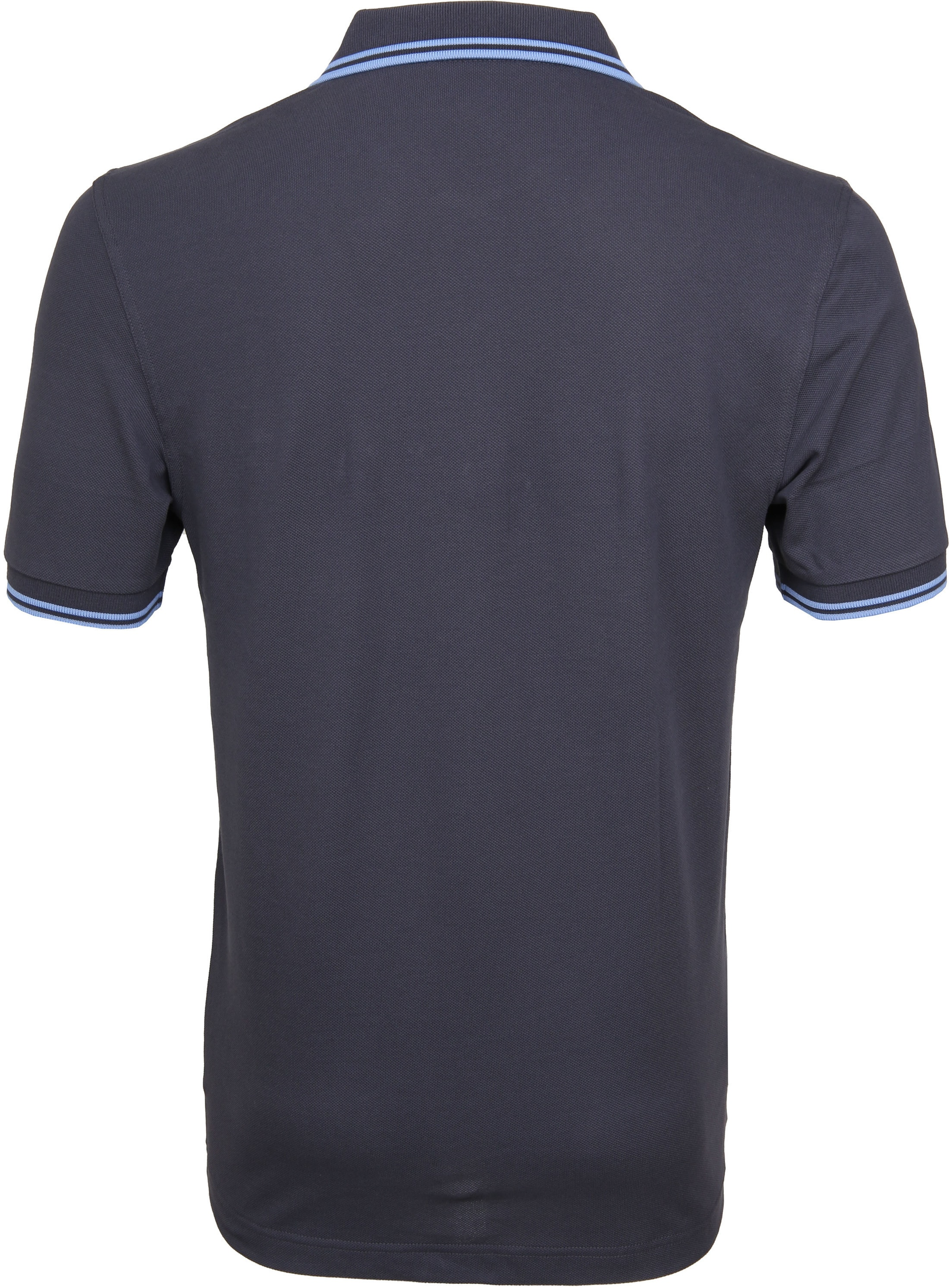 Fred Perry Polo Grijs Blauw C12 foto 3