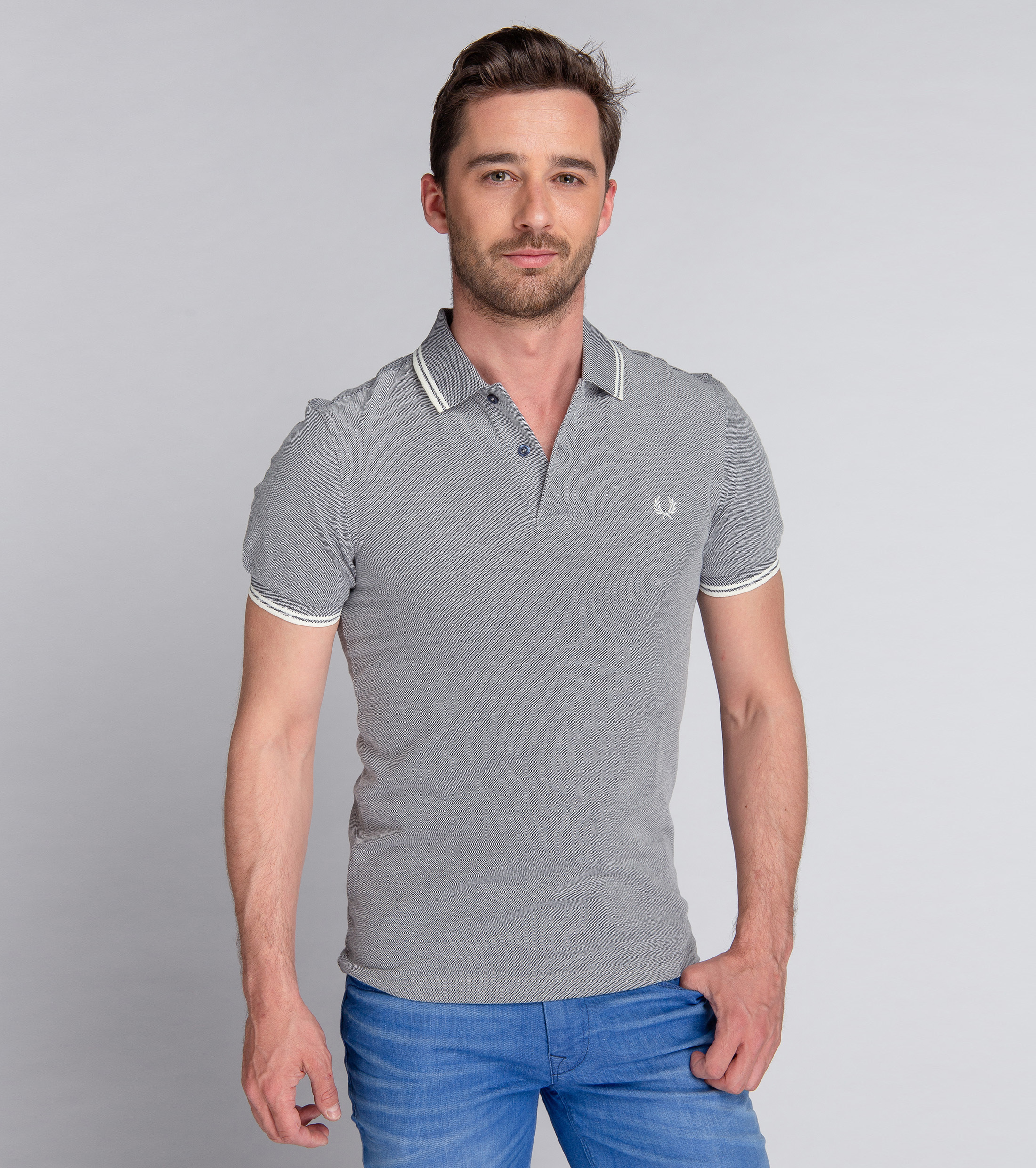 Fred Perry Polo Grijs F62 foto 1