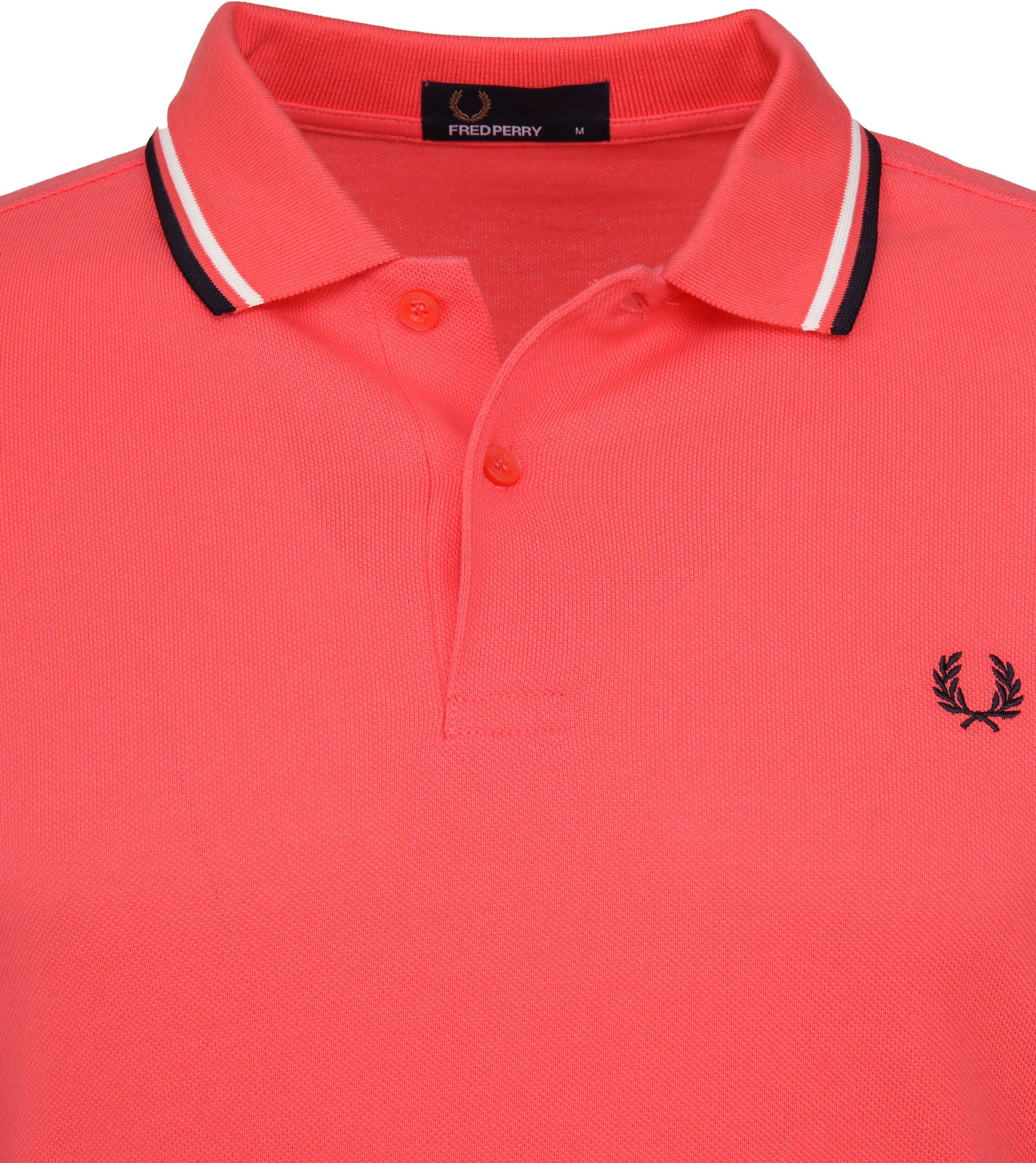 Fred Perry Polo Korall Rosa 489 foto 2
