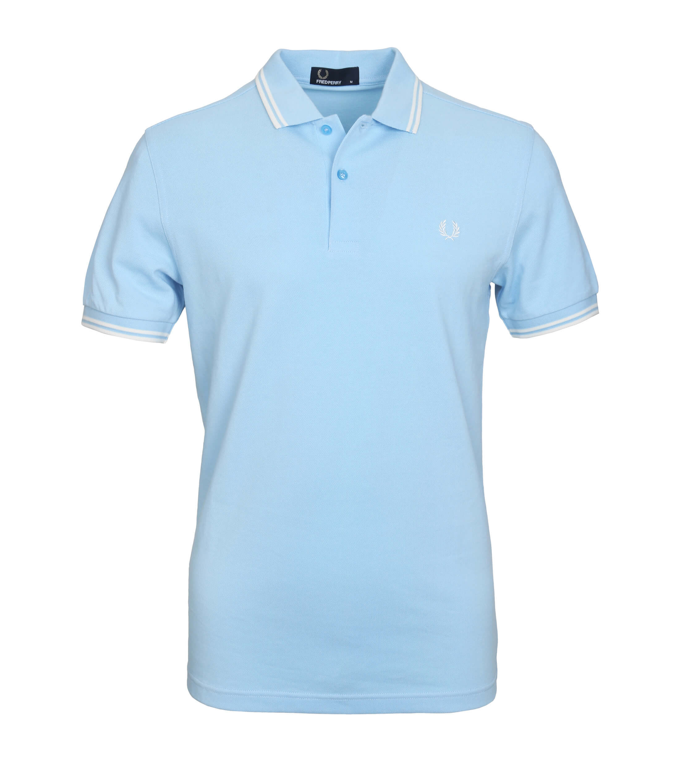 Fred Perry Polo Lichtblauw F81 foto 0