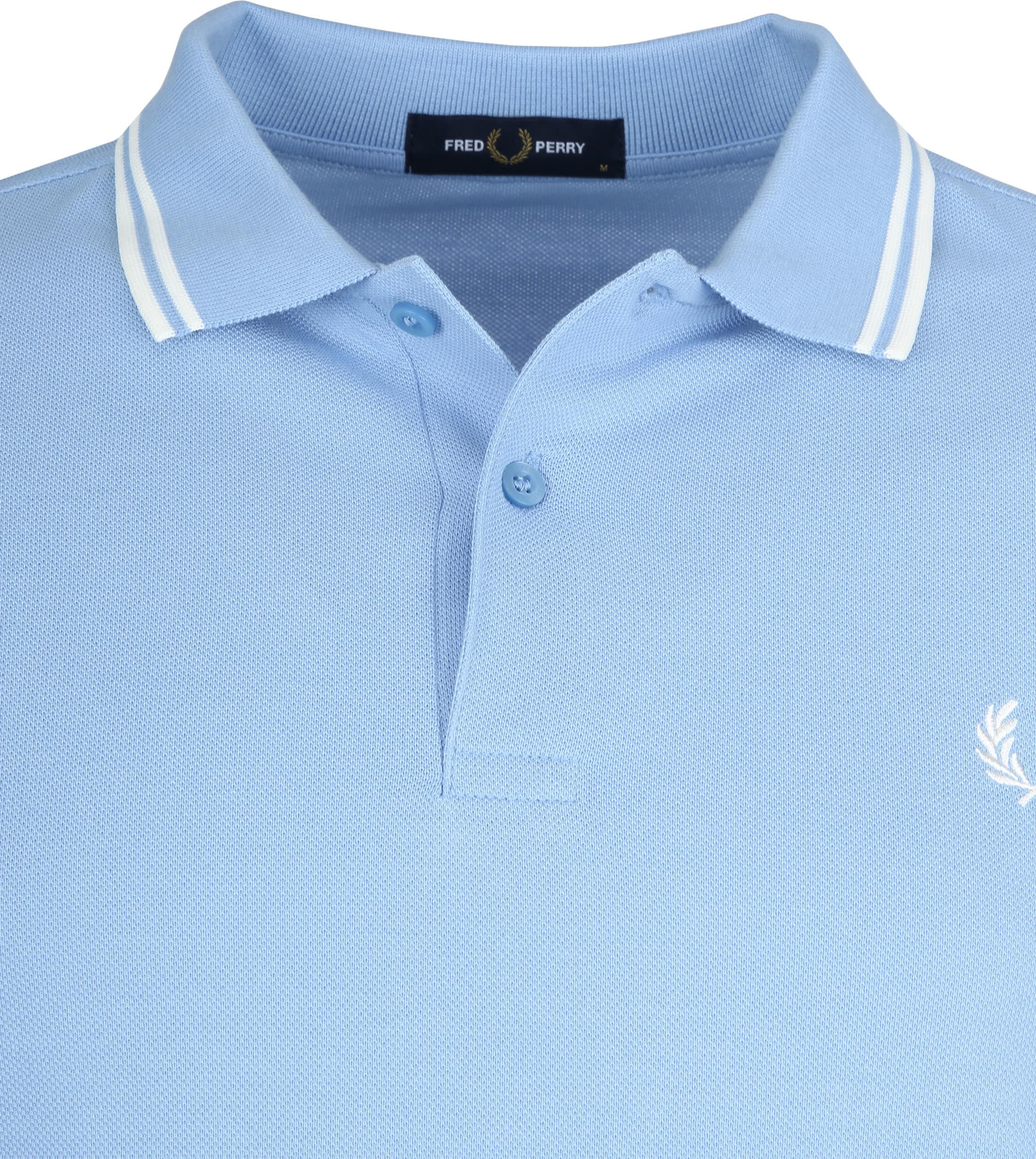 Fred Perry Polo Lichtblauw L15