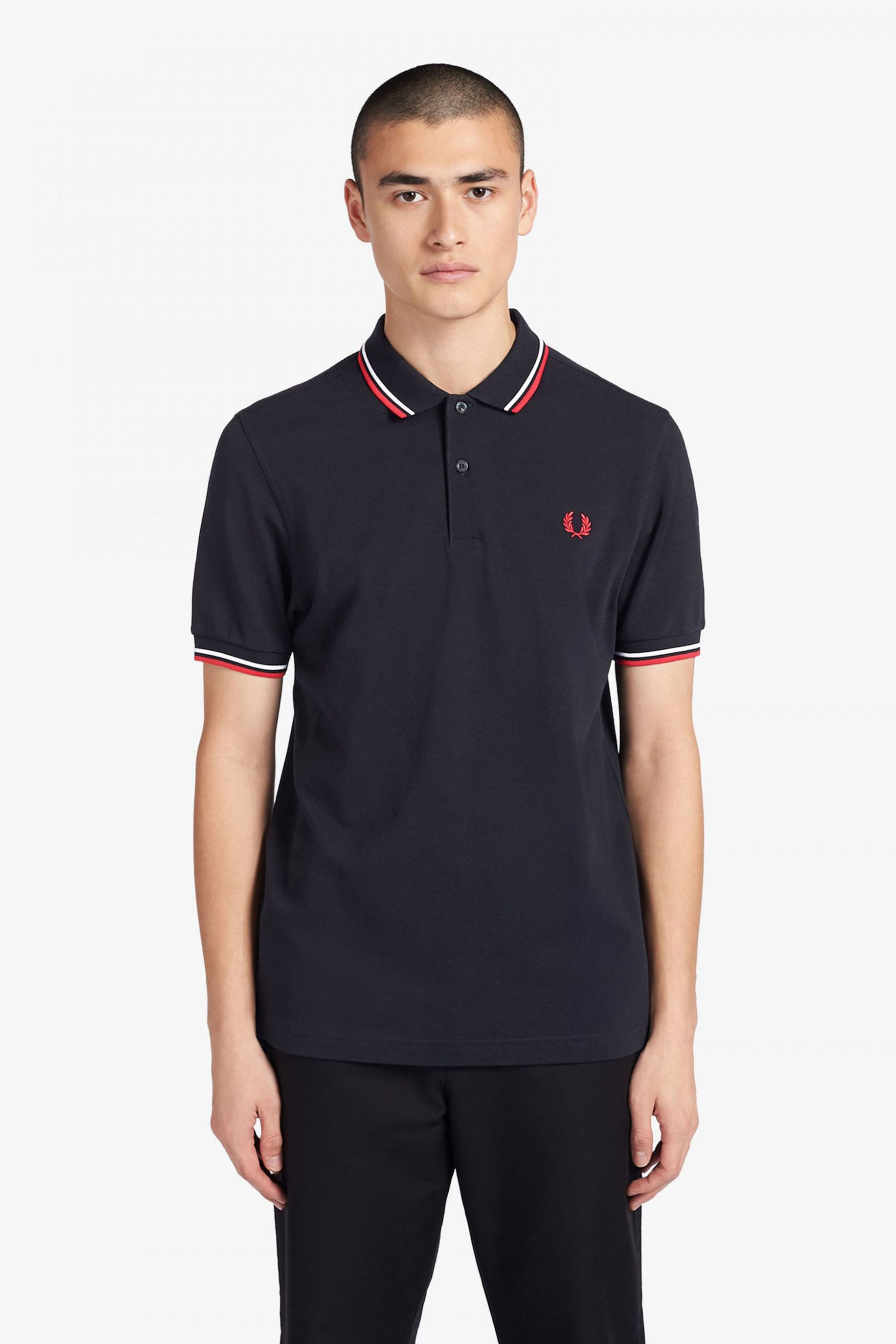 Fred Perry Polo Navy Weiß Rot