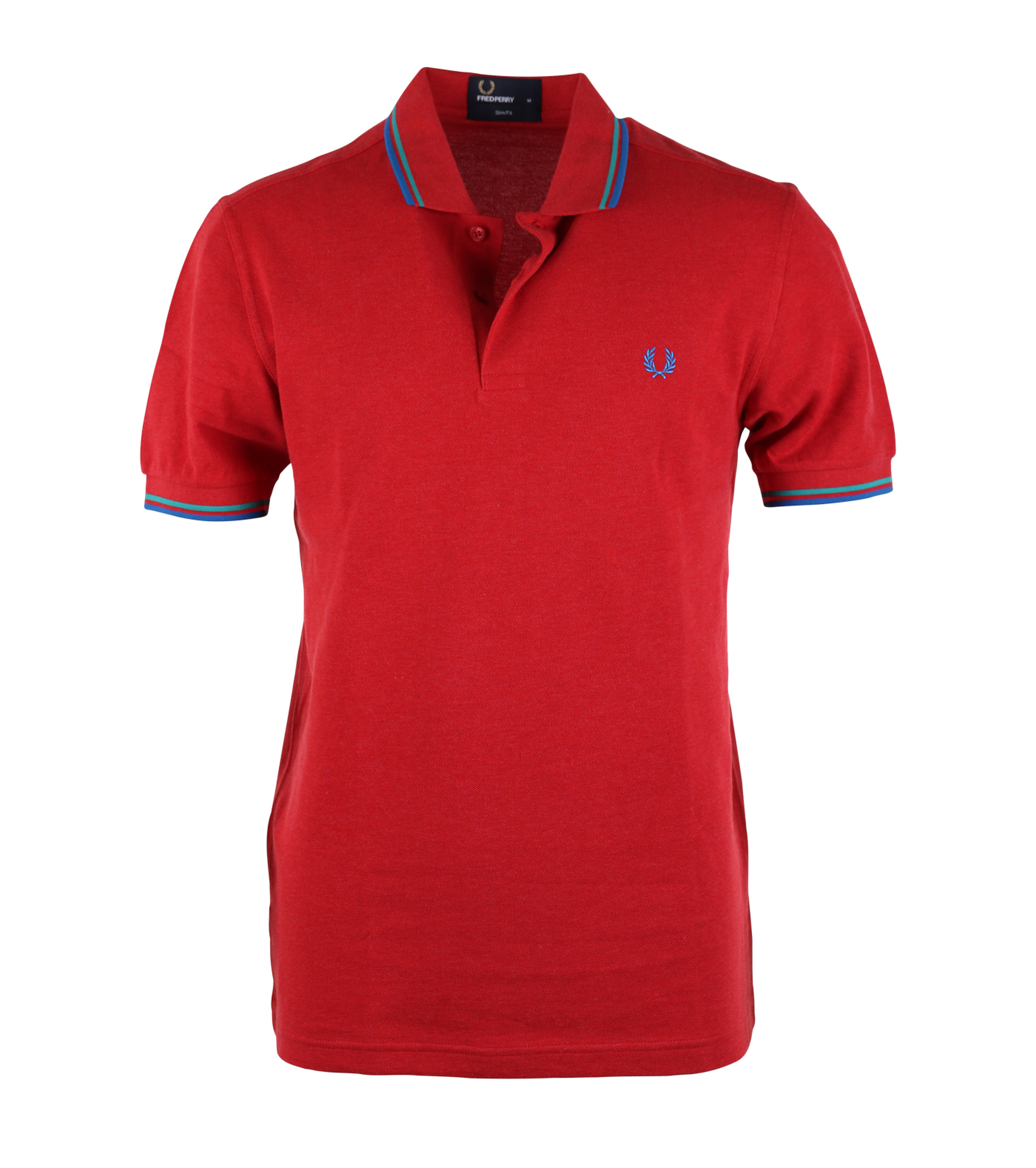 Fred Perry Polo Rood Slim Fit A60 foto 0