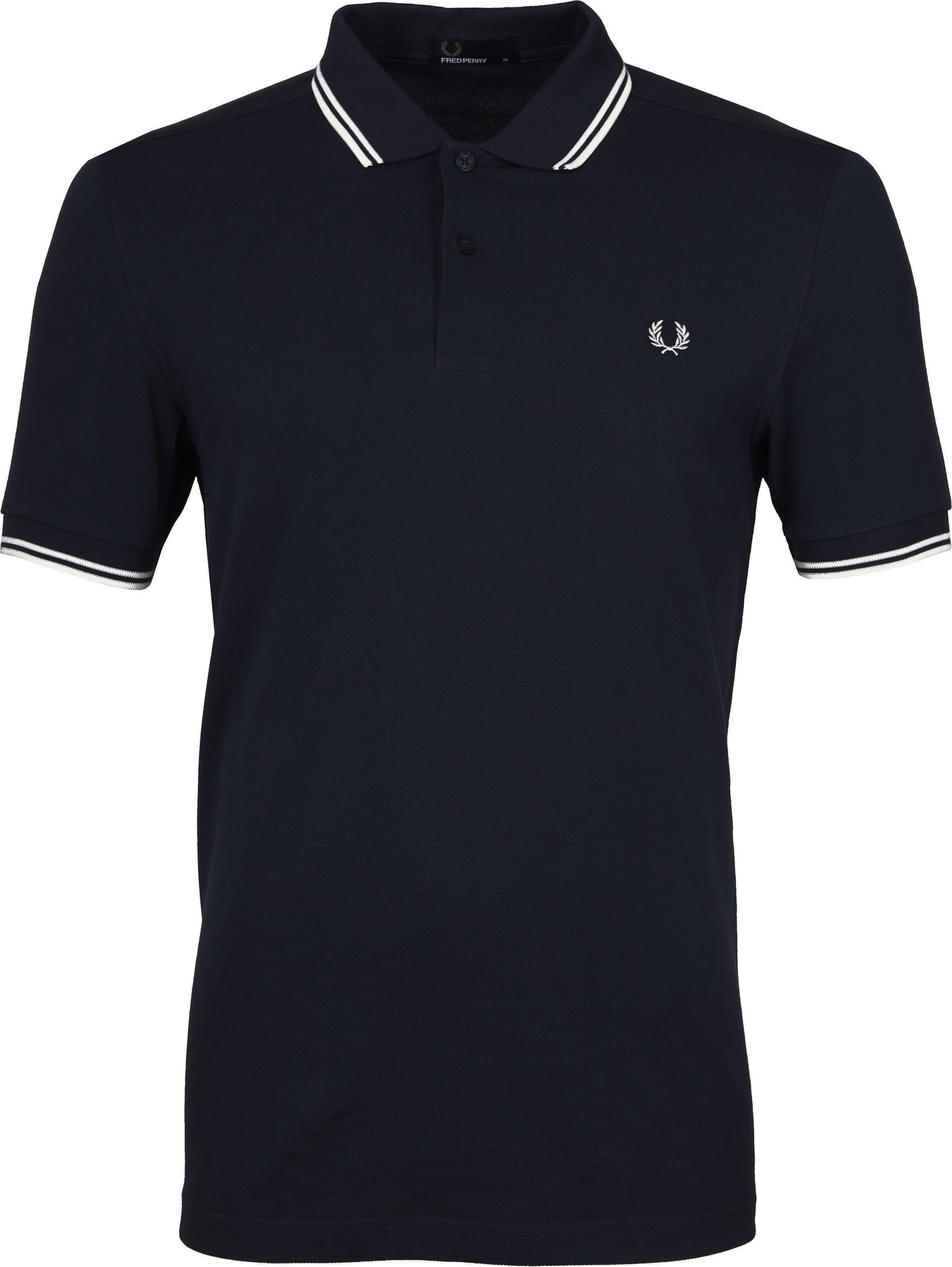 Fred Perry Polo Shirt Navy White foto 0